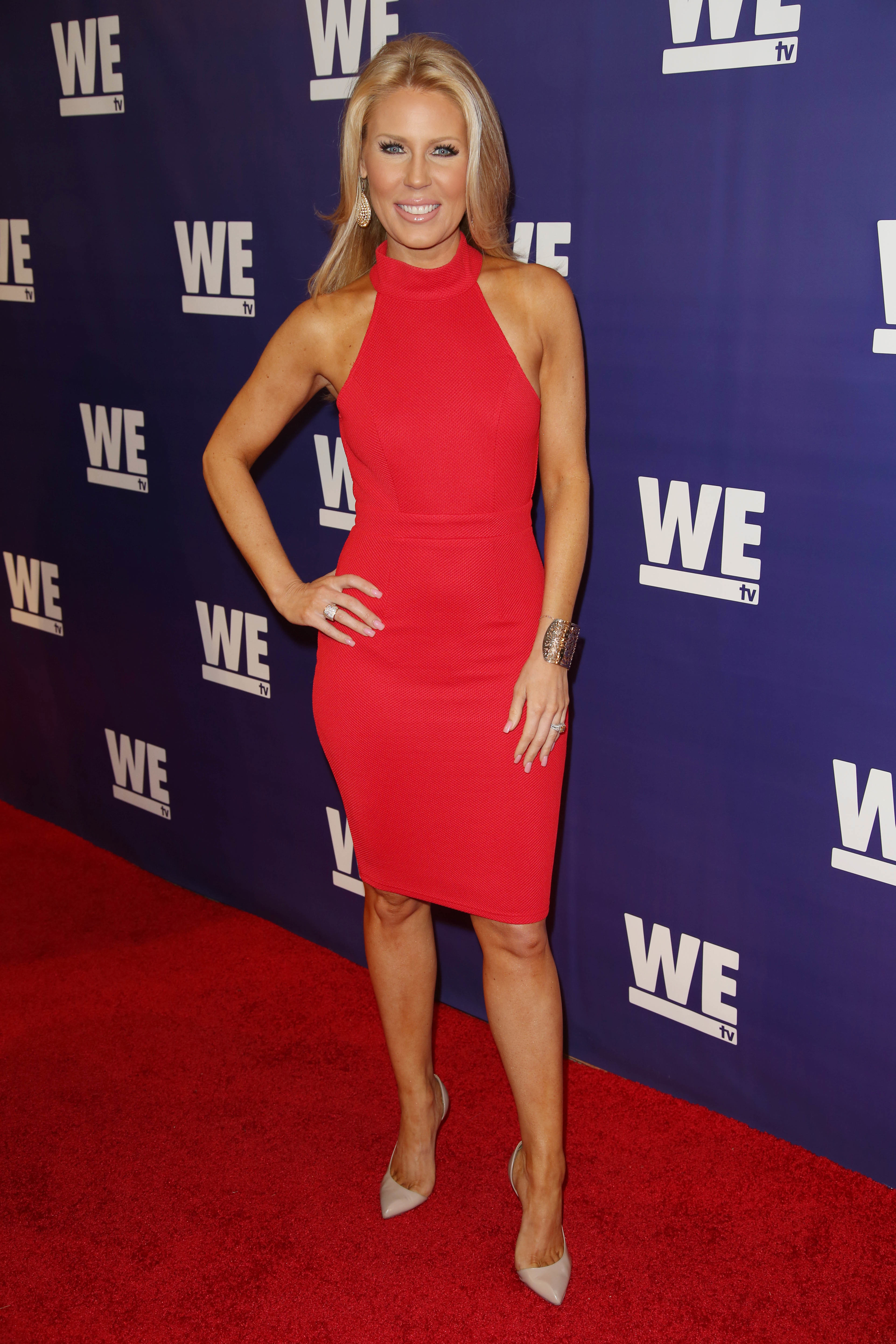 Gretchen Rossi attends the WE TV Presents 'The Evolution of Relationship Reality Shows in Los Angeles on March 19, 2015.