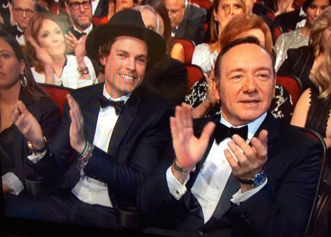 Who was the hottie next to Kevin Spacey at the Emmys?