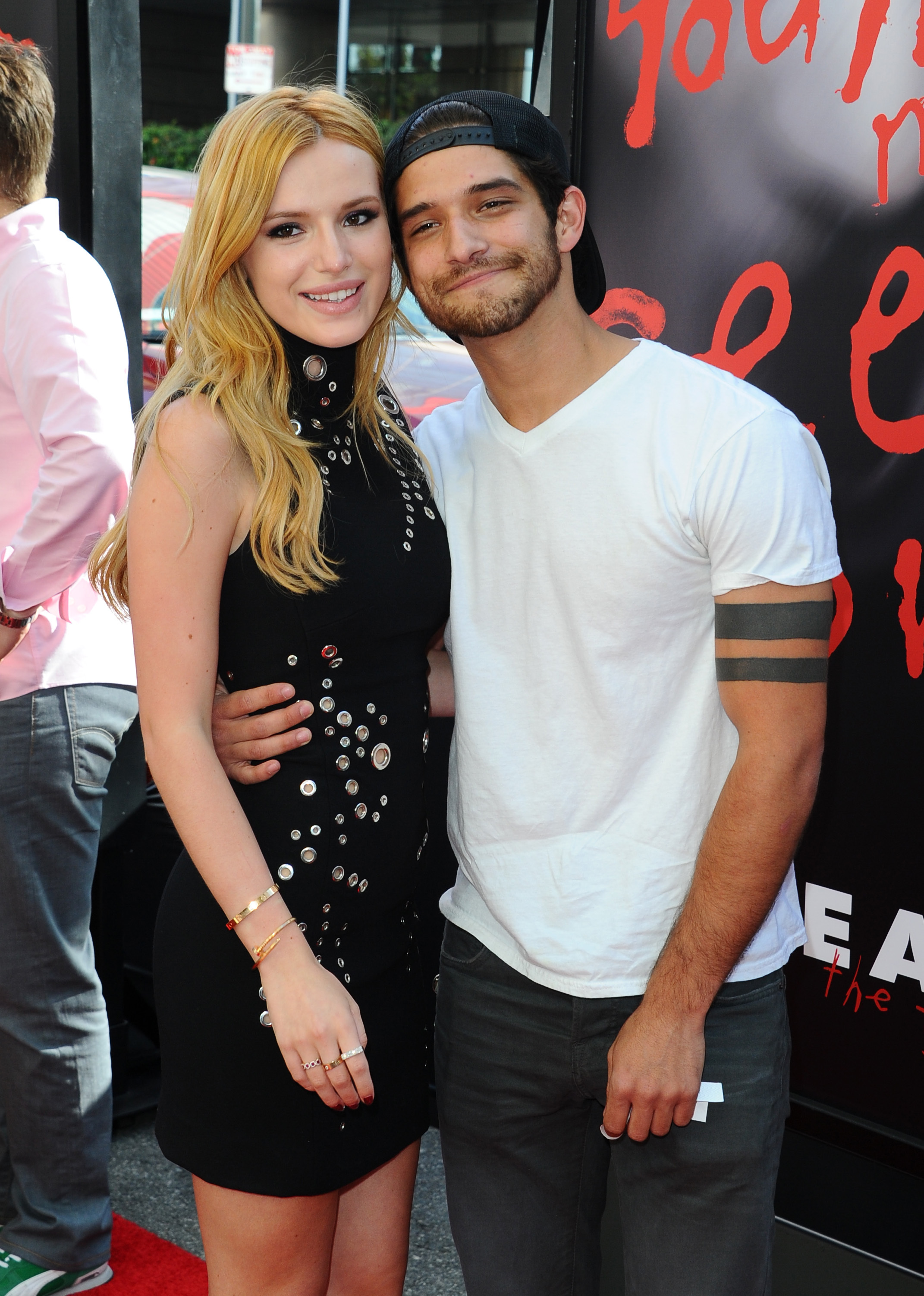Bella Thorne and Tyler Posey attend the Scream TV series premiere at the Los Angeles Film Festival in Los Angeles on June 14, 2015.