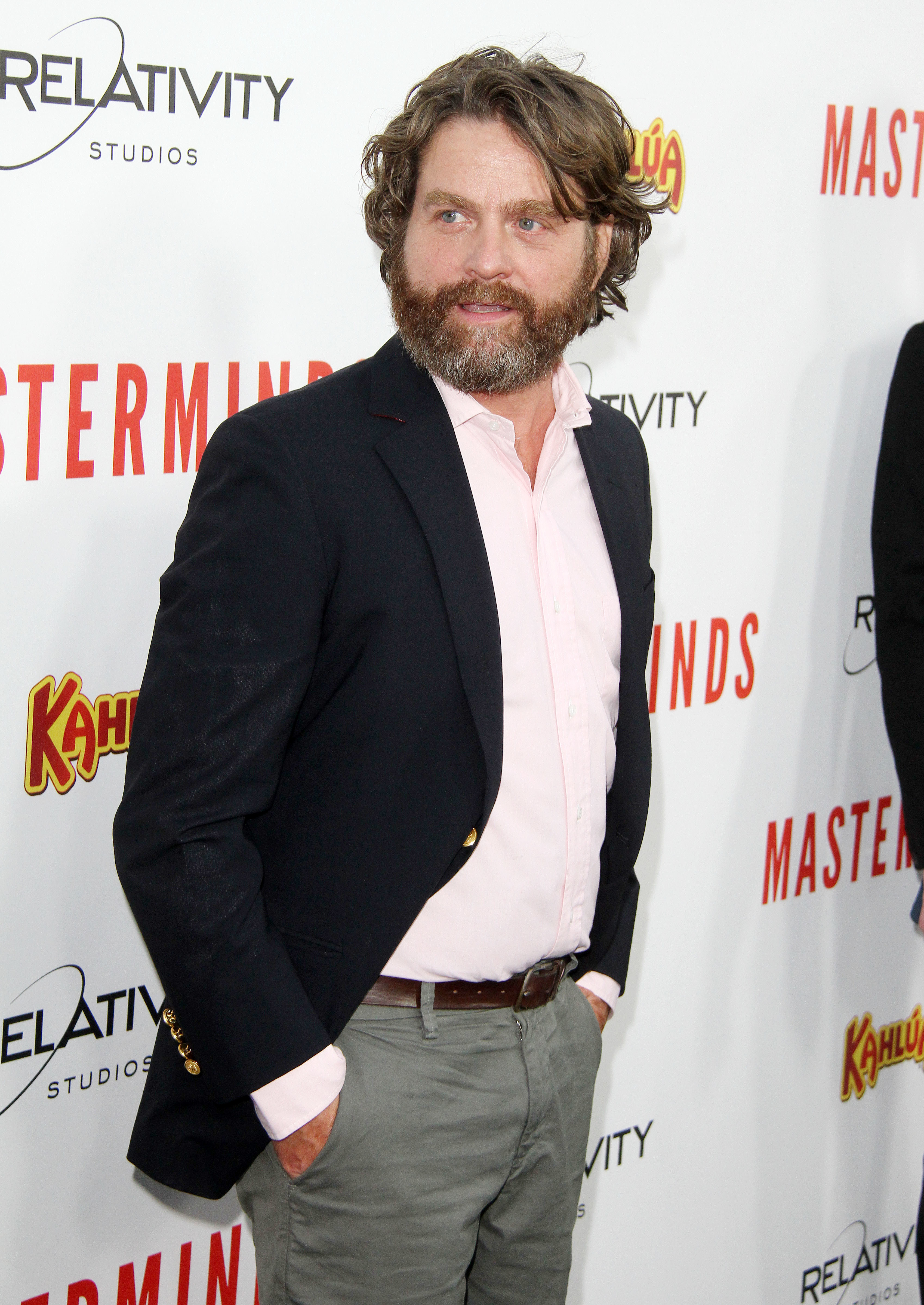 """Zach Galifianakis attends the """"Masterminds"""" premiere held at The TCL Chinese Theatre in Hollywood, Calif., on Sept. 26, 2016."""