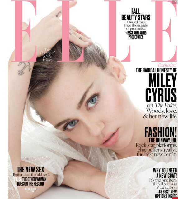 Miley Cyrus explains her 'pansexuality' to Elle