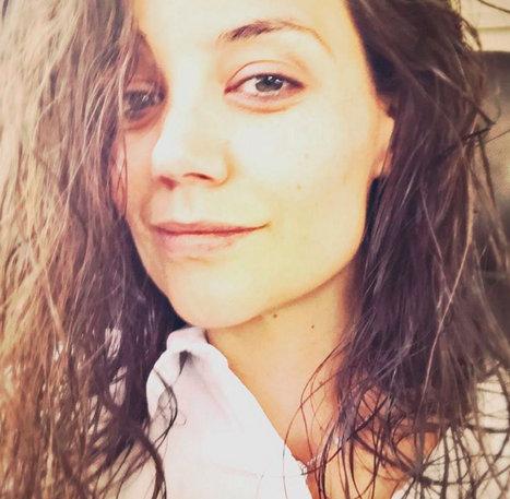 Katie Holmes shares glowing, makeup free selfie