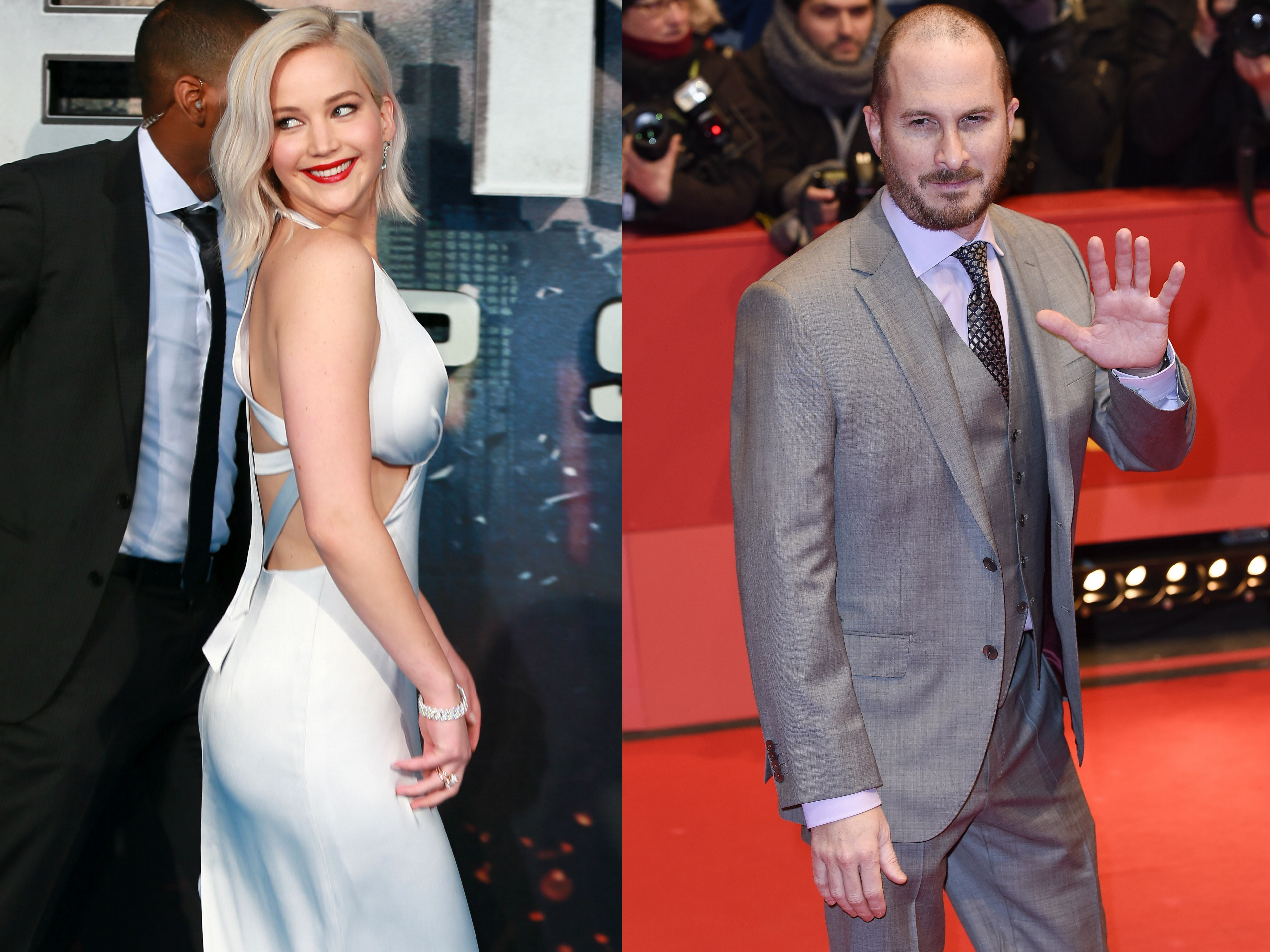 Image result for Jennifer Lawrence and Darren Aronofsky