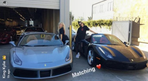 Kendall and Kylie Jenner have matching Ferraris