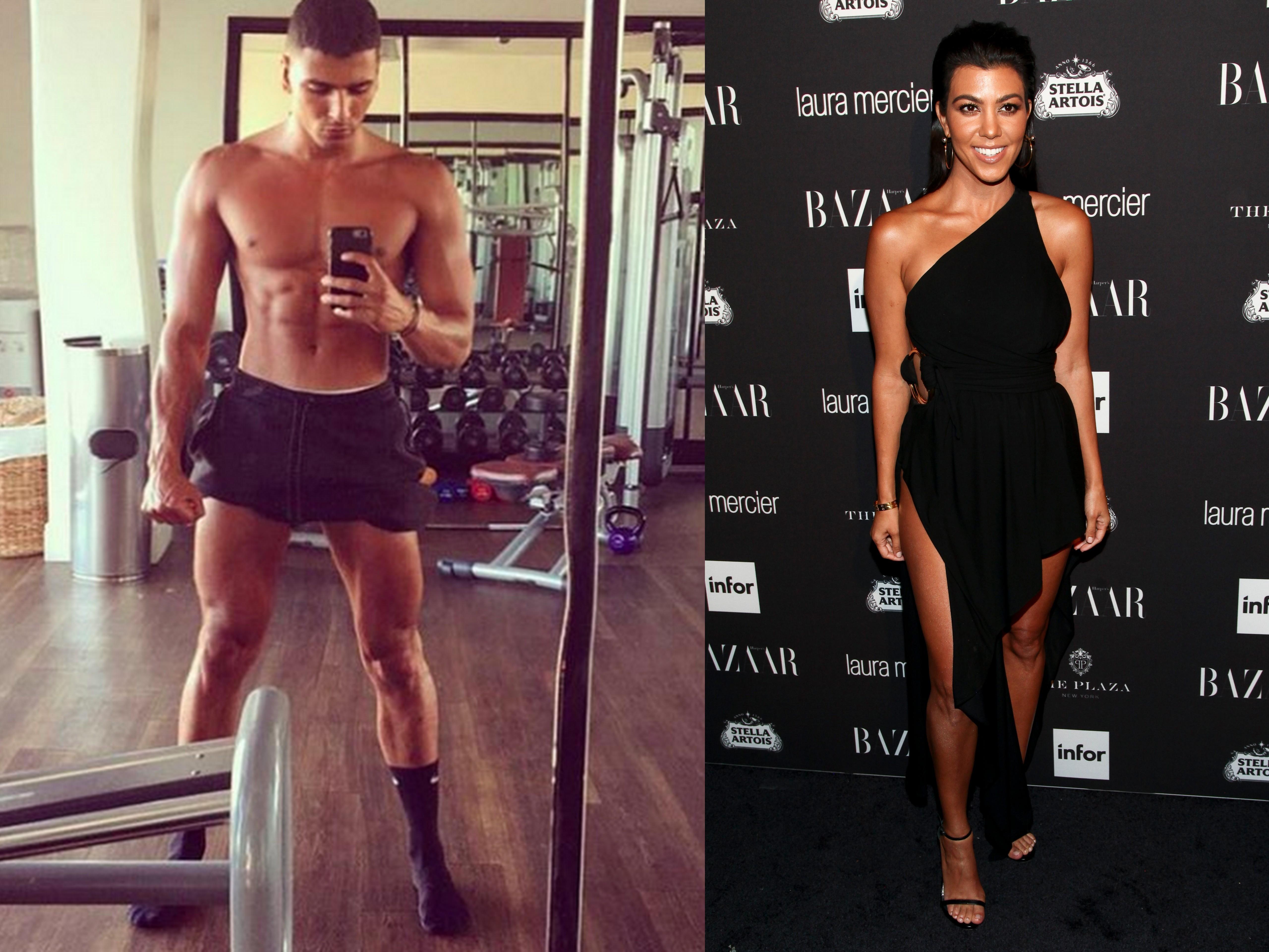 Romance rumors hit Kourtney Kardashian, 23 year old model `