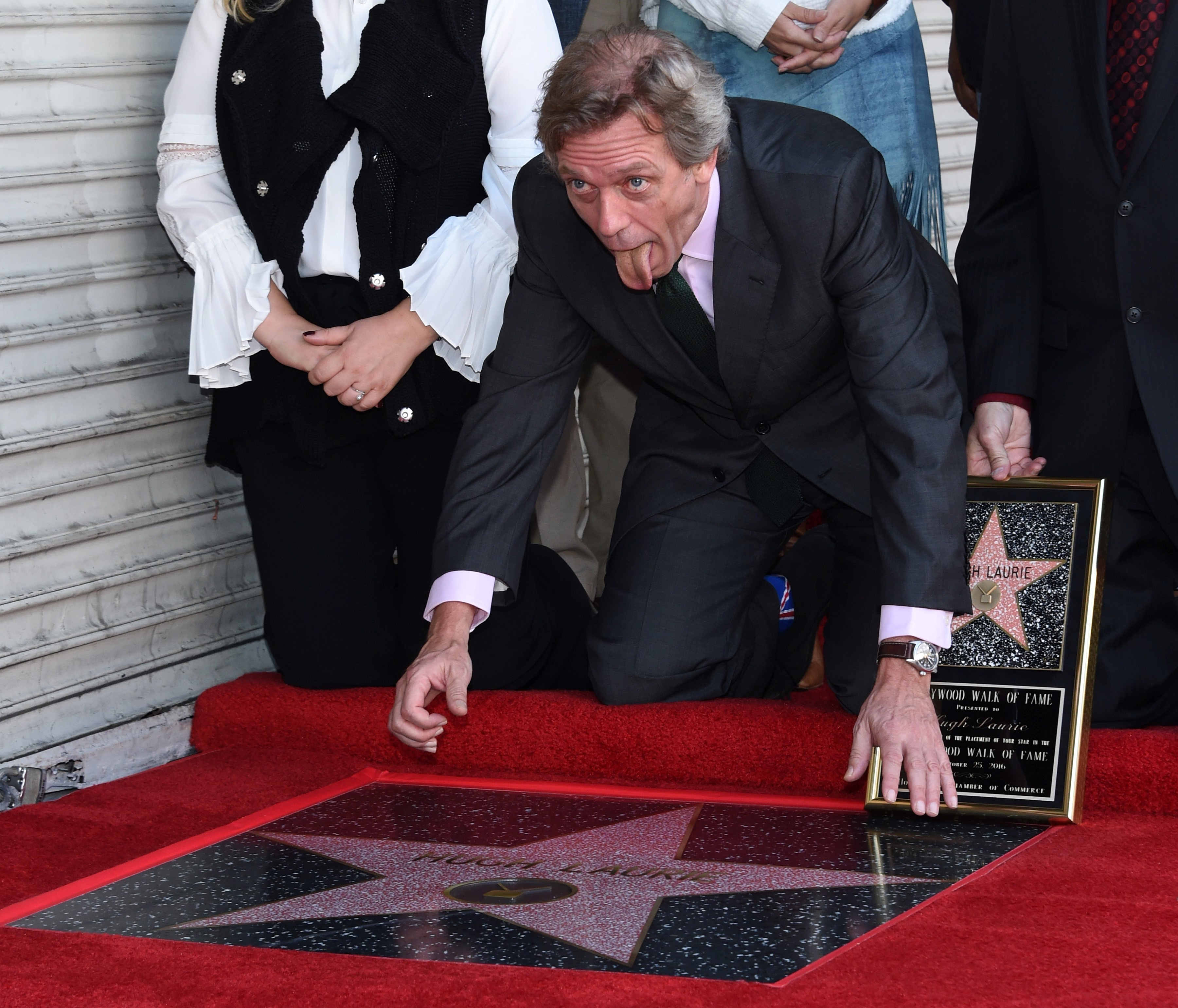 Hugh Laurie gets a star on the Walk of Fame in Hollywood on Oct. 25, 2016.