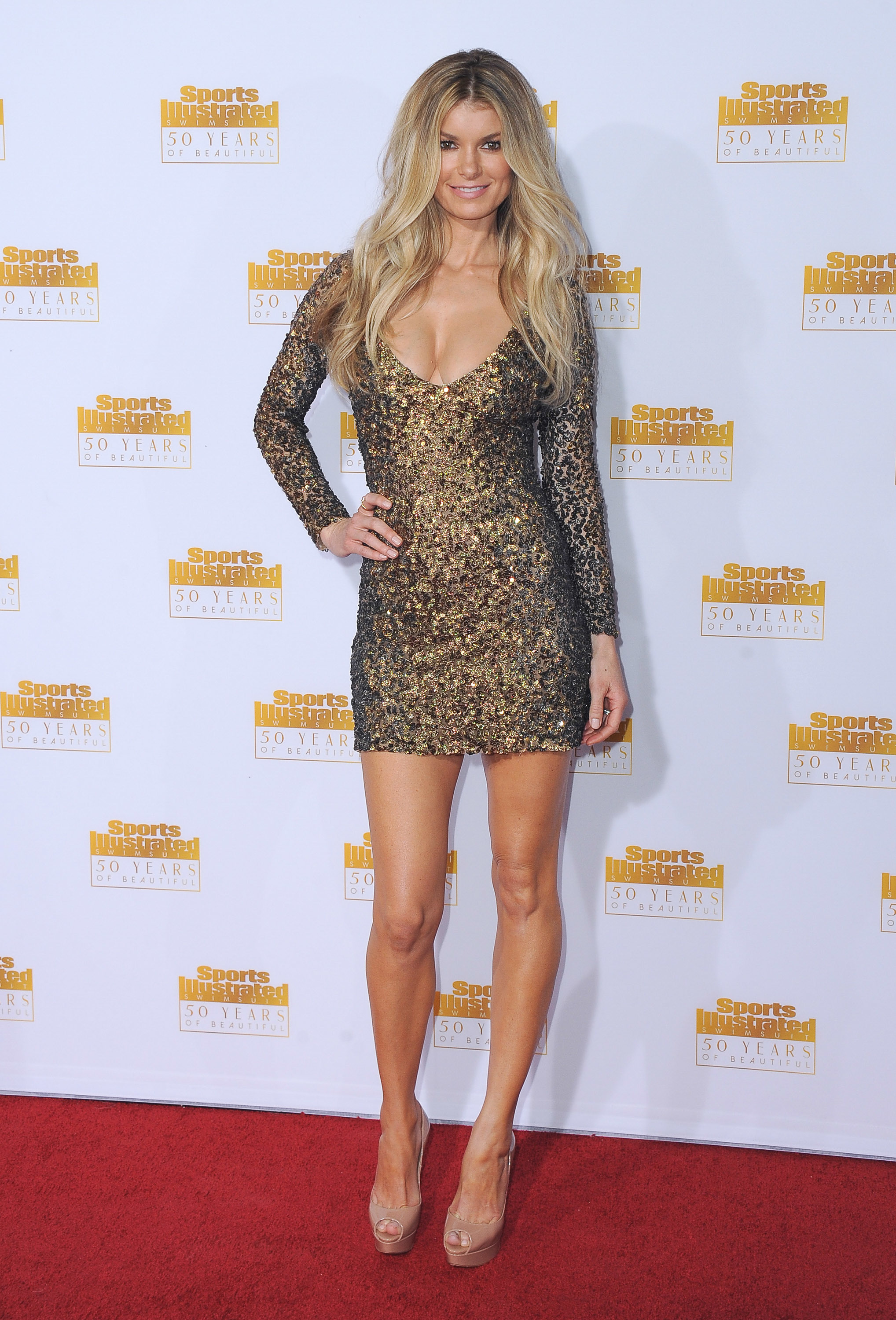 Marisa Miller attends 'The Sports Illustrated Swimsuit Issue' 50th Anniversary Celebration at the Dolby Theatre in Los Angeles on Jan. 14, 2014.