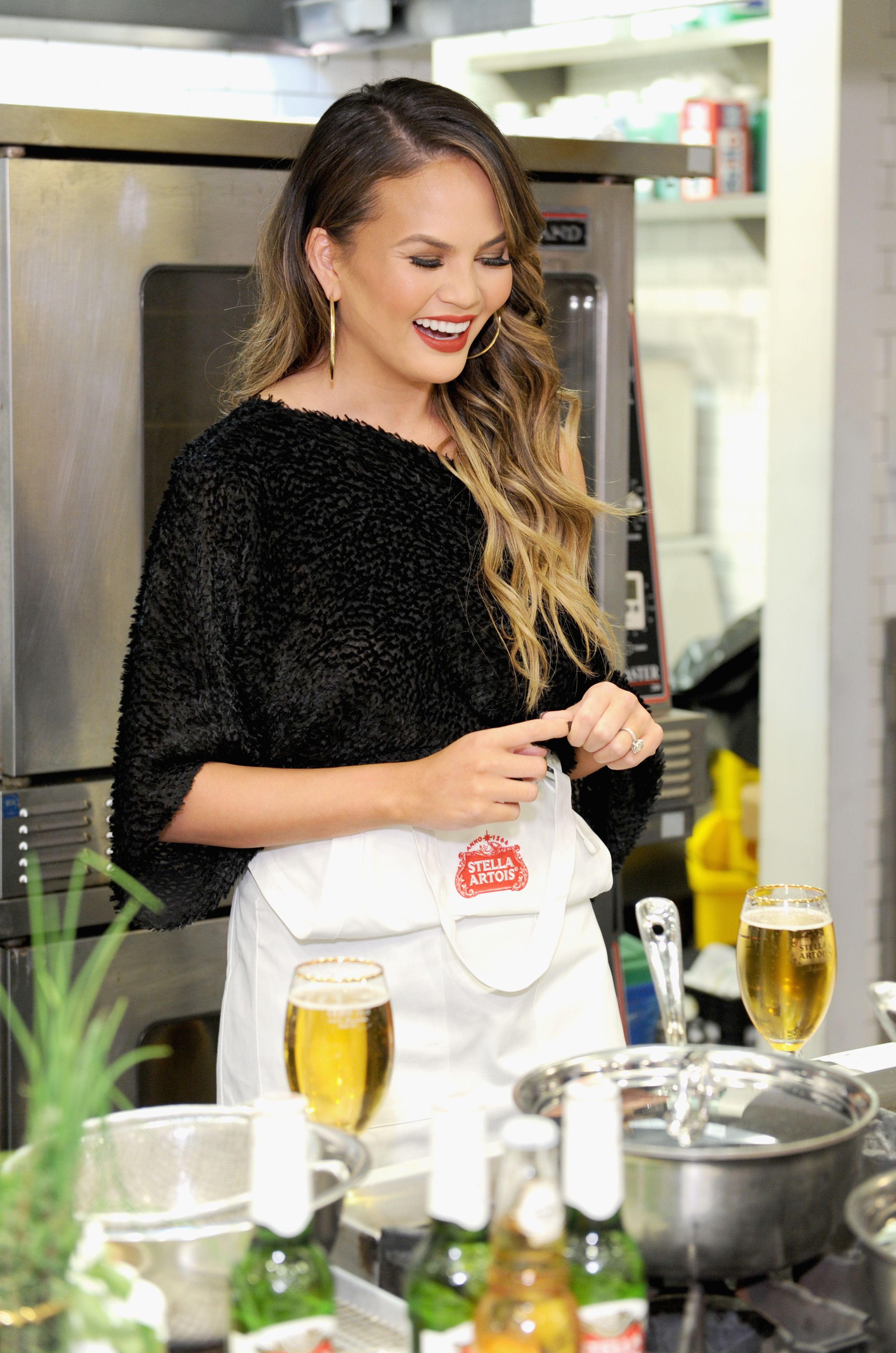 "Chrissy Teigen on why ""Cravings 2"" will consist of simpler recipes:"