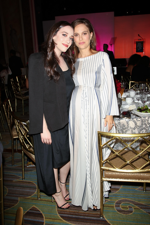 Kat Dennings and Natalie Portman attend The 30th Israel Film Festival Anniversary Gala Awards in Los Angeles on Nov. 9, 2016.