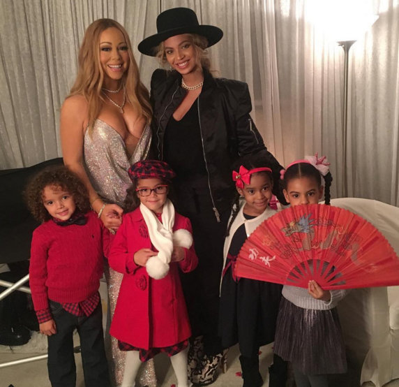 Beyonce, Blue Ivy, Mariah Carey and the twins hang out at the Beacon
