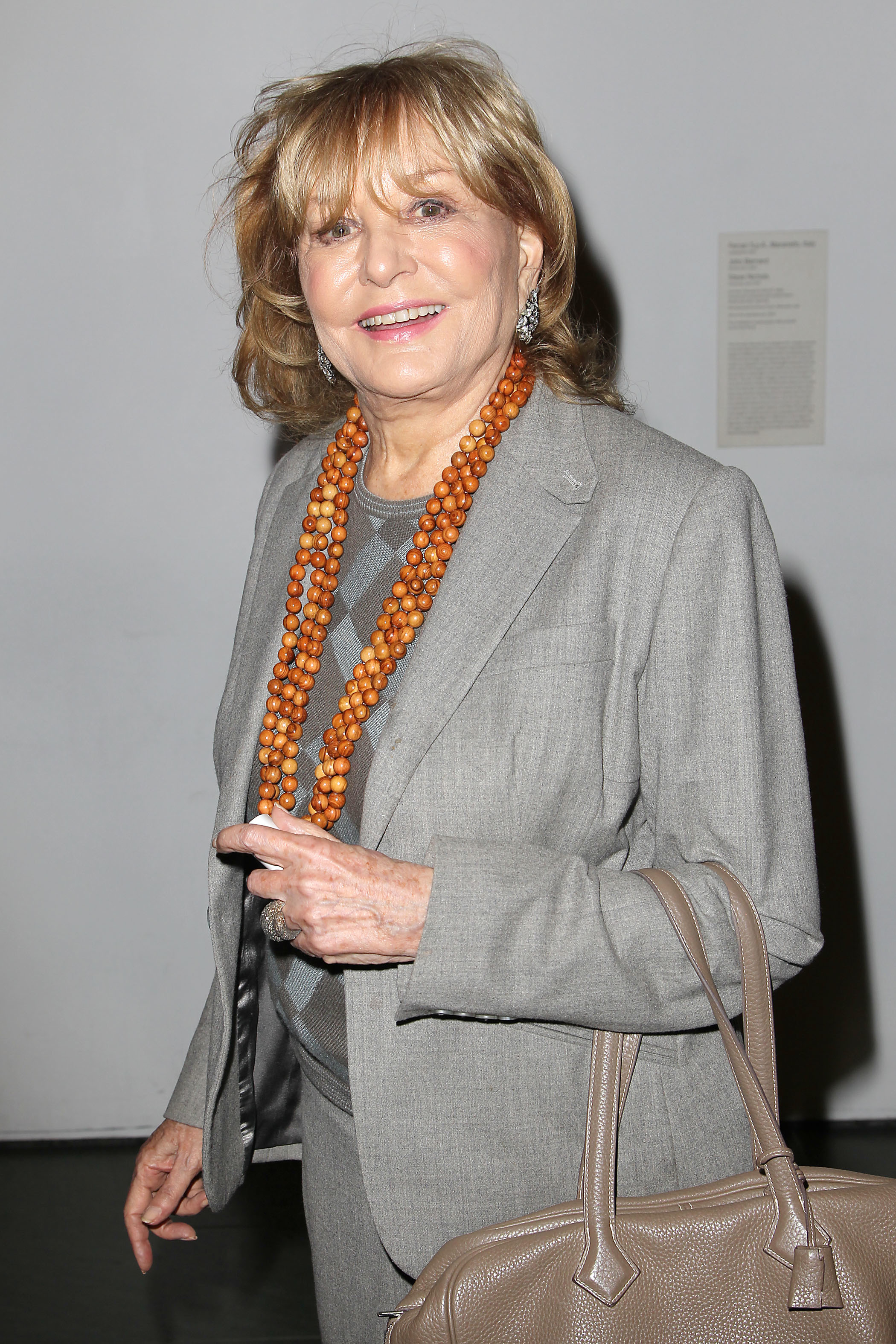 Barbara Walters attends the 'Whiskey Tango Foxtrot' film screening in New York on Feb. 21, 2016.