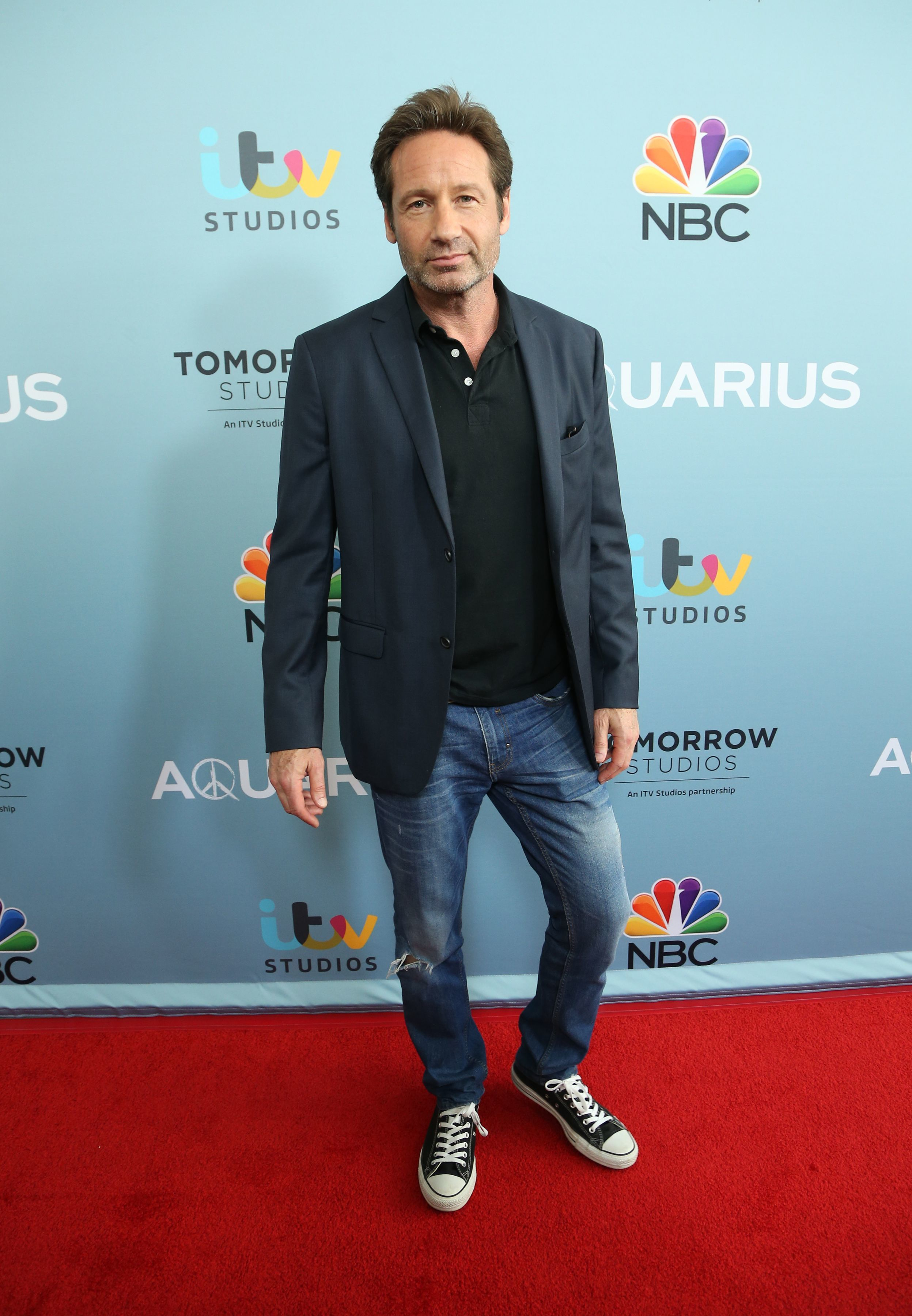 David Duchovny steps out with much younger gal pal