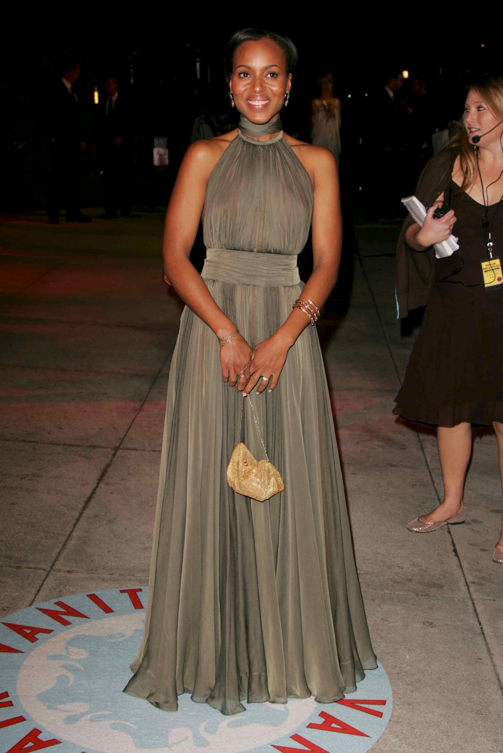 Kerry Washington In Green Kerry Washington S Most Memorable Style Moments Gallery