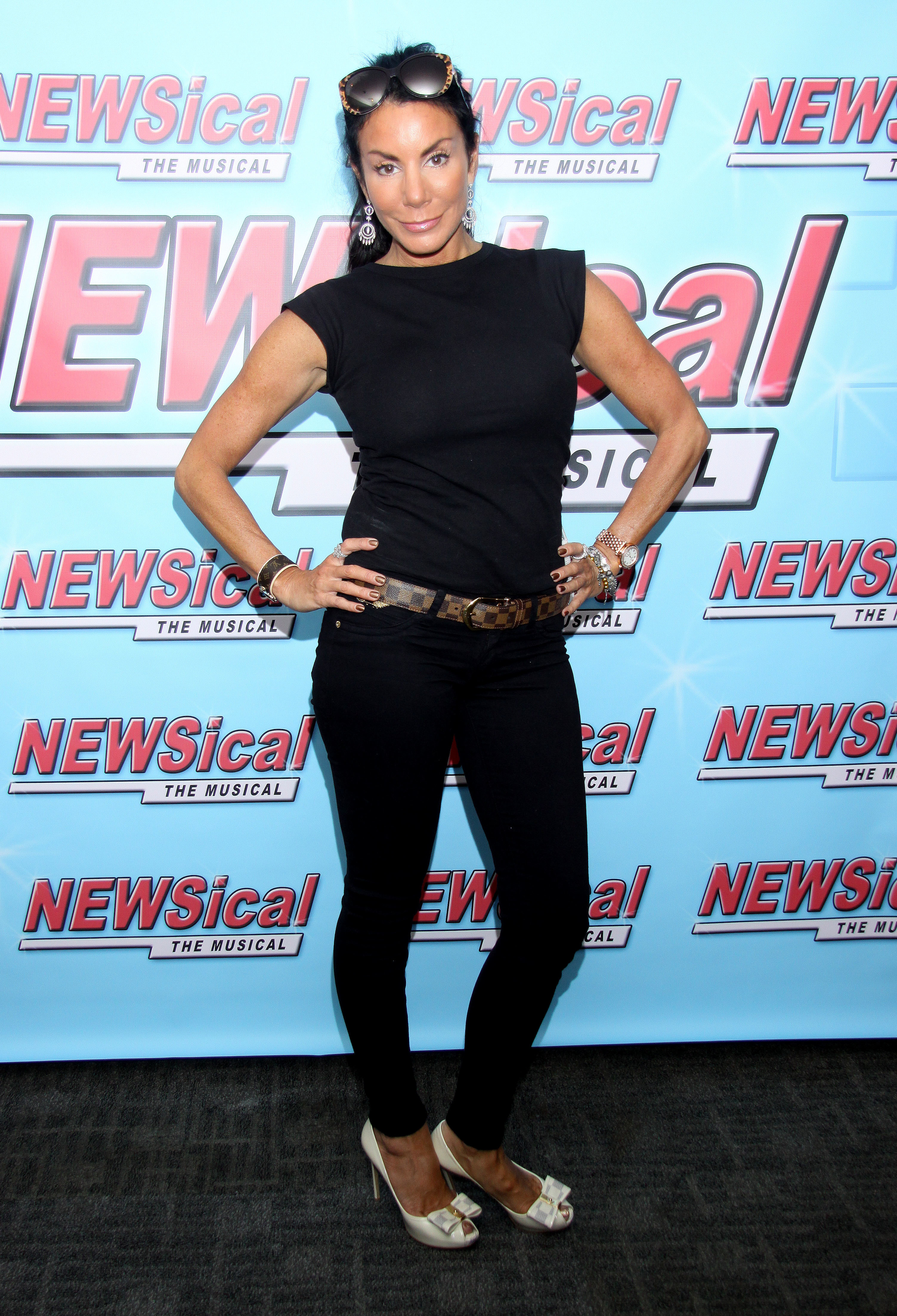 Danielle Staub attends La Toya Jackson's first night in Newsical the Musical at the Kirk Theatre in New York City on Sept. 13, 2013.
