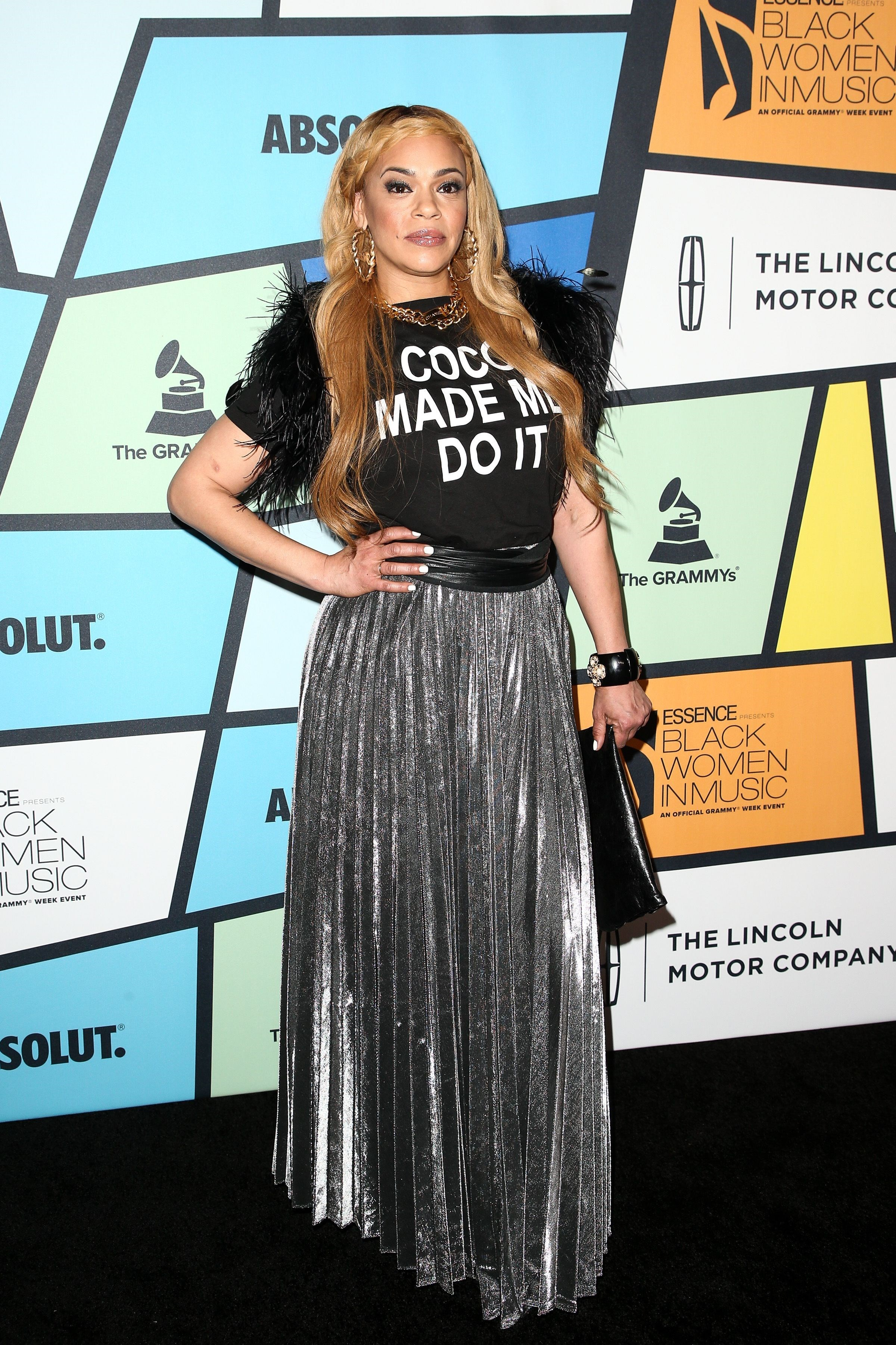 Faith Evans attends the Essence Black Women in Music in Los Angeles on Feb. 9, 2017.