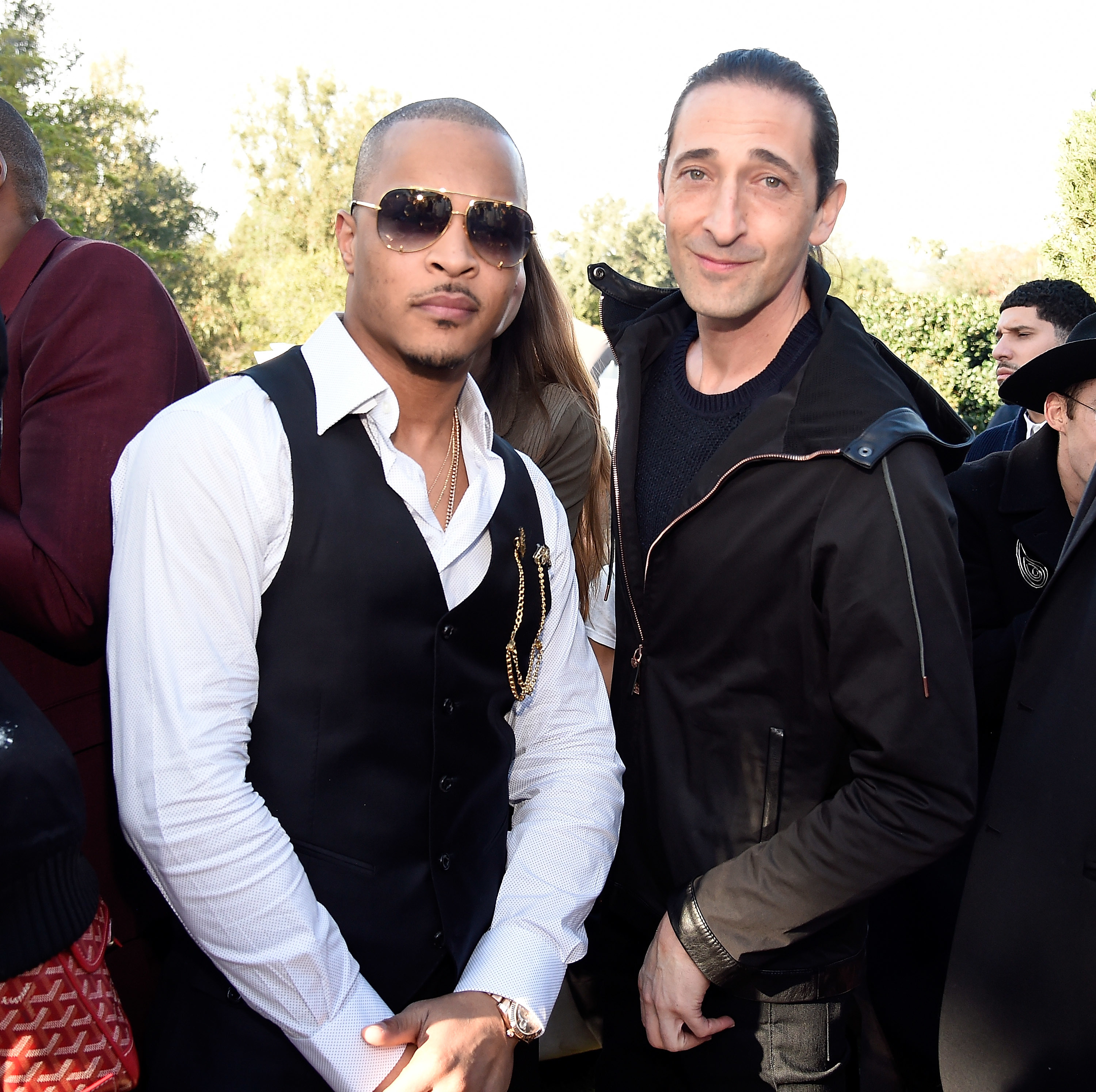 T.I. and Adrien Brody attend Roc Nation's Pre Grammys Brunch in Los Angeles on Feb. 11, 2017.
