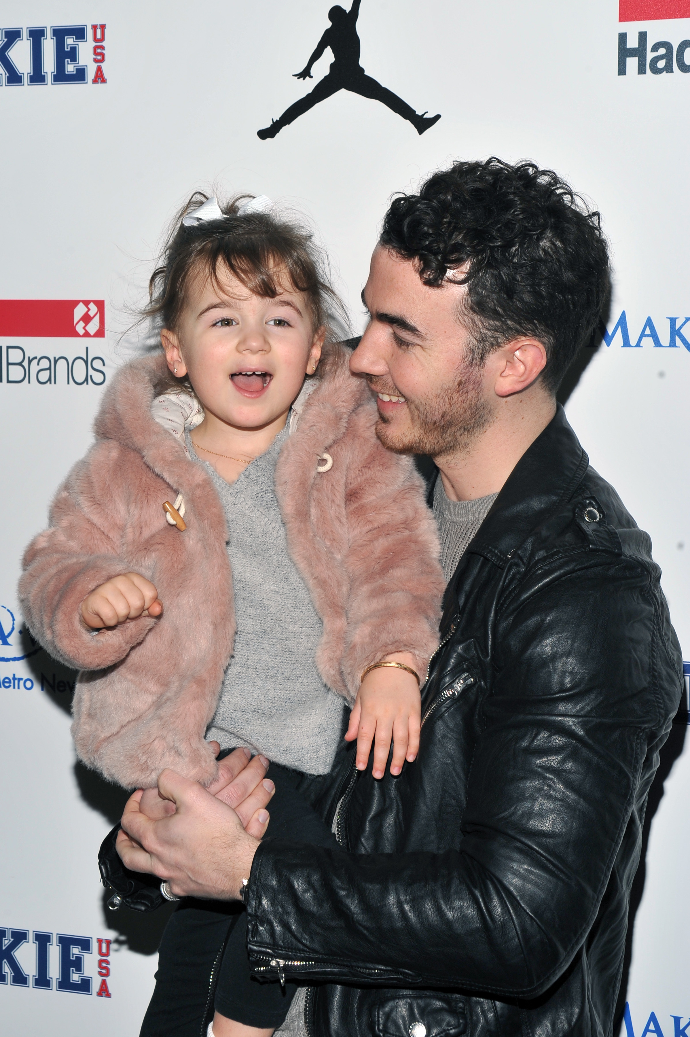 Kevin Jonas brings daughter Alena Rose Jonas to the Rookie USA show during New York Fashion Week on Feb. 15, 2017.