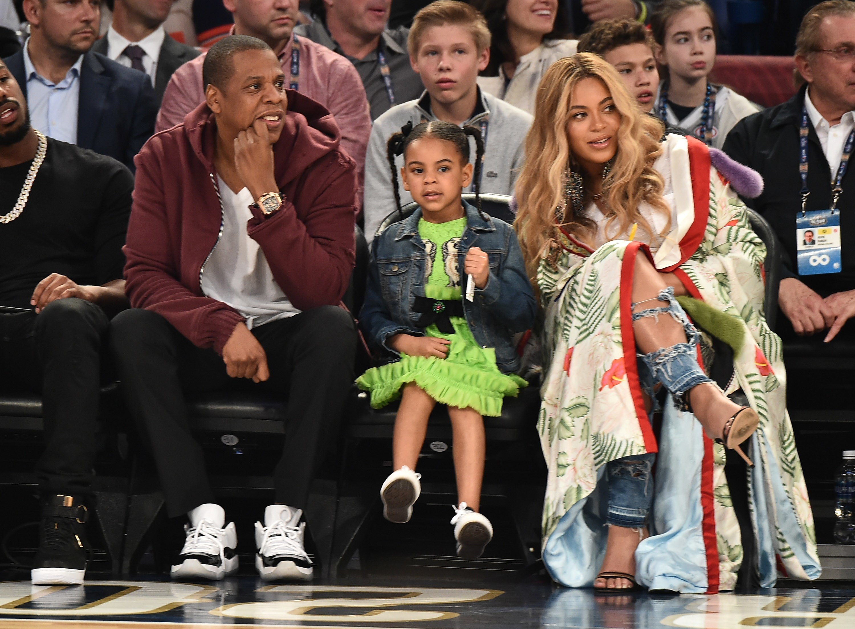Blue Ivy Carter wore an $1,800 dress to the All Star Game