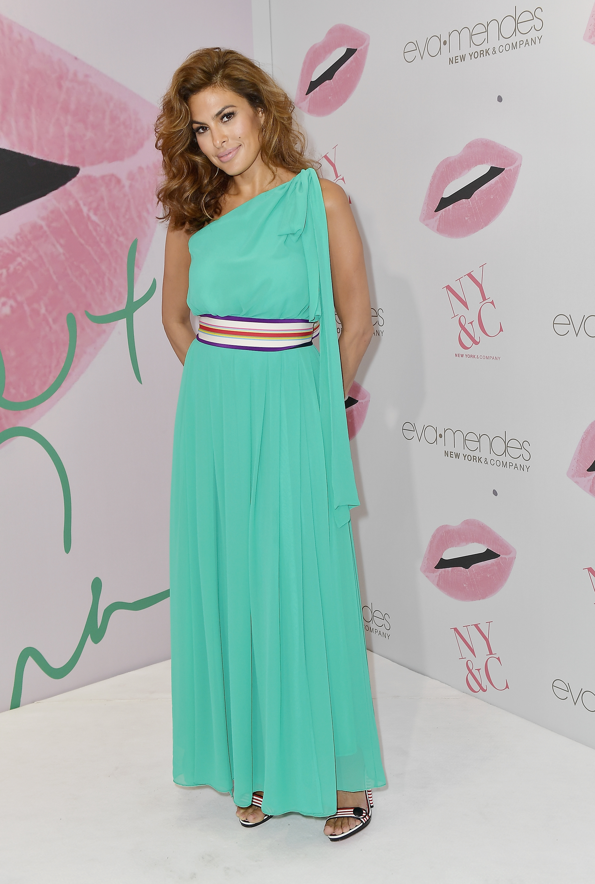 Eva Mendes attends the grand opening of New York & Company Miami store and the debut of her new collection in Miami on March 16, 2017.
