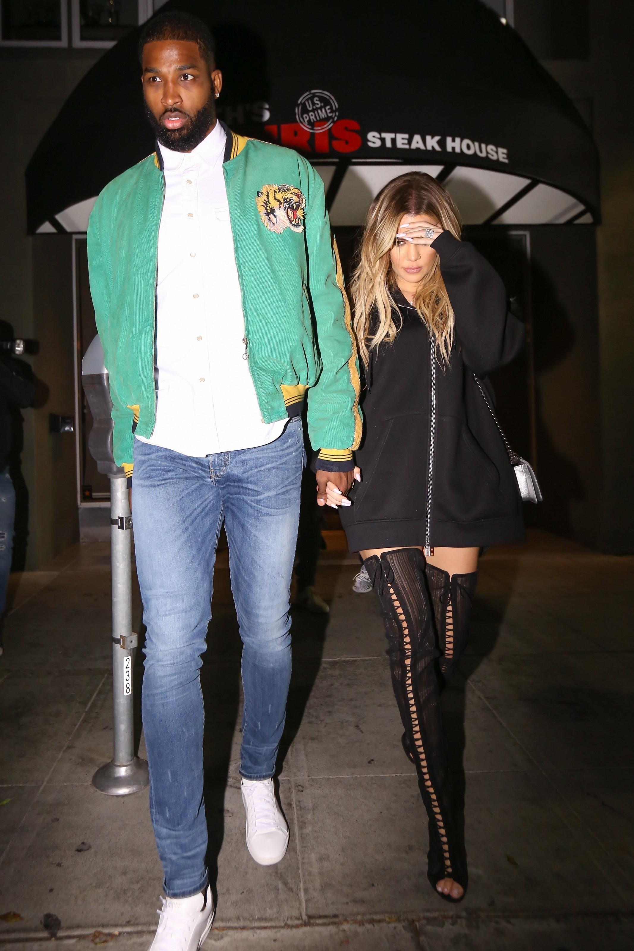 Khloe Kardashian shows off diamond rings on date with Tristan Thompson