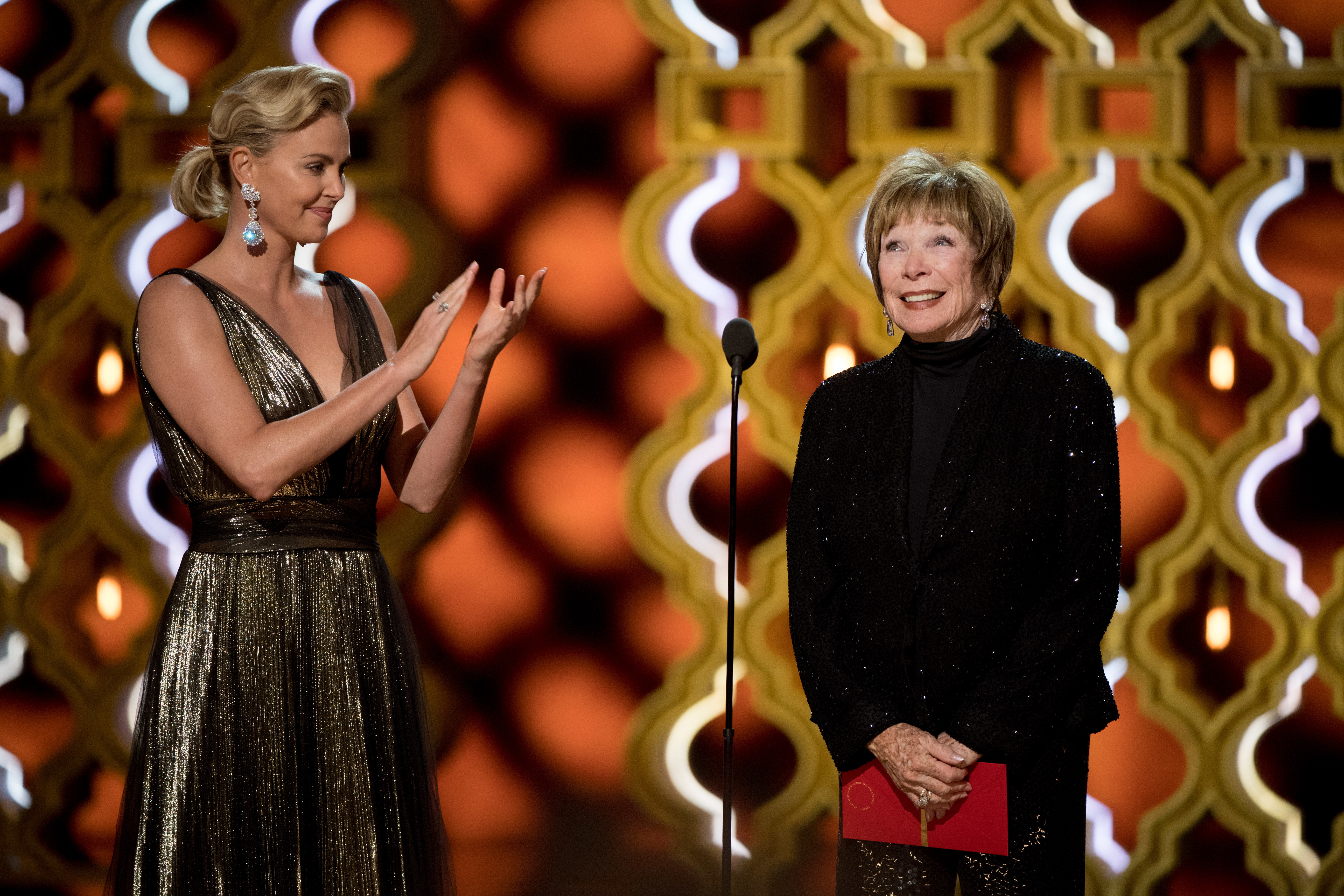 Shirley MacLaine wore a turtleneck from Chico's to the Oscars