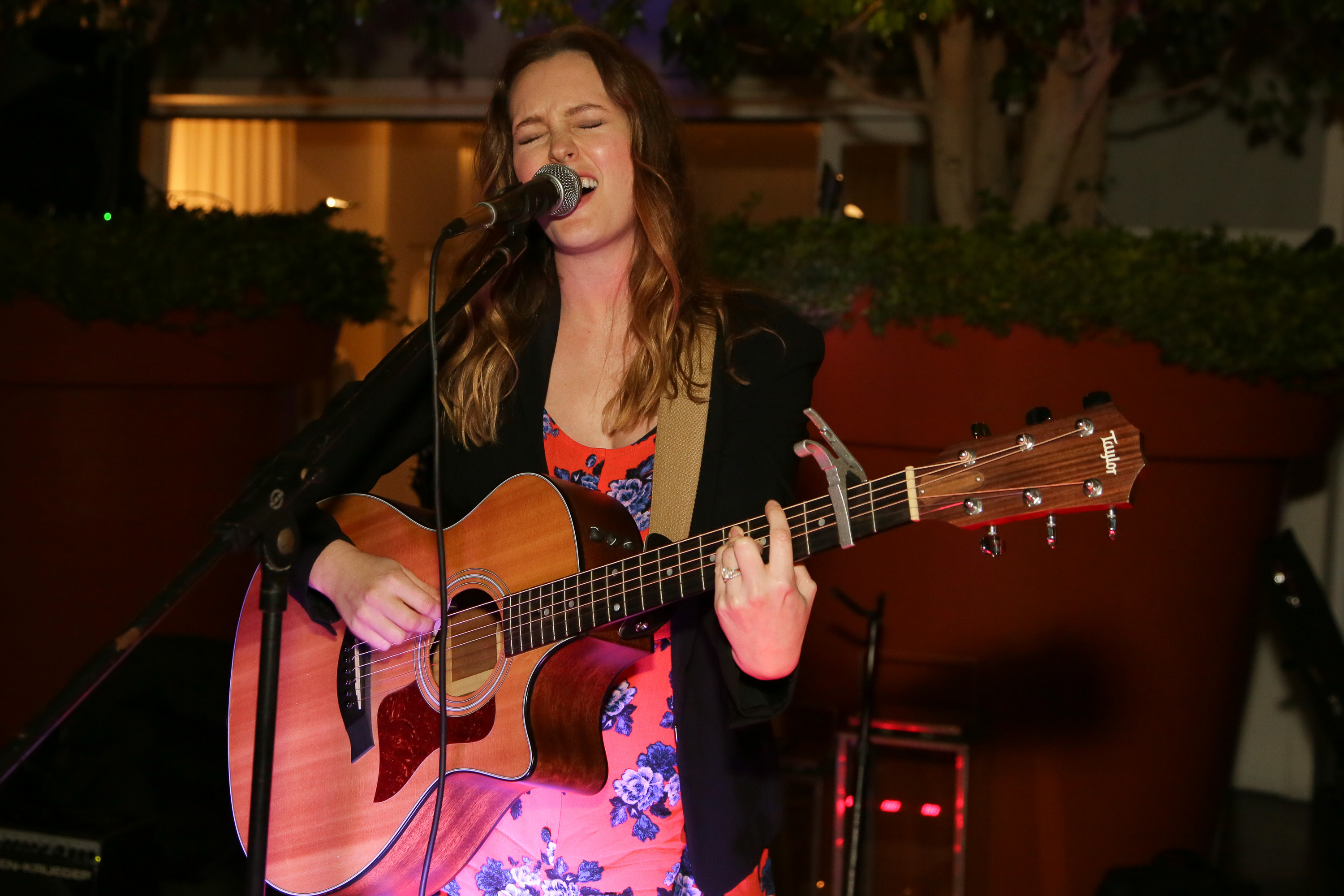 Leighton Meester performs at the Full Moon Bazaar benefiting ManyHopes.org at SkyBar at the Mondrian Los Angeles in West Hollywood, Calif., on April 2, 2015.