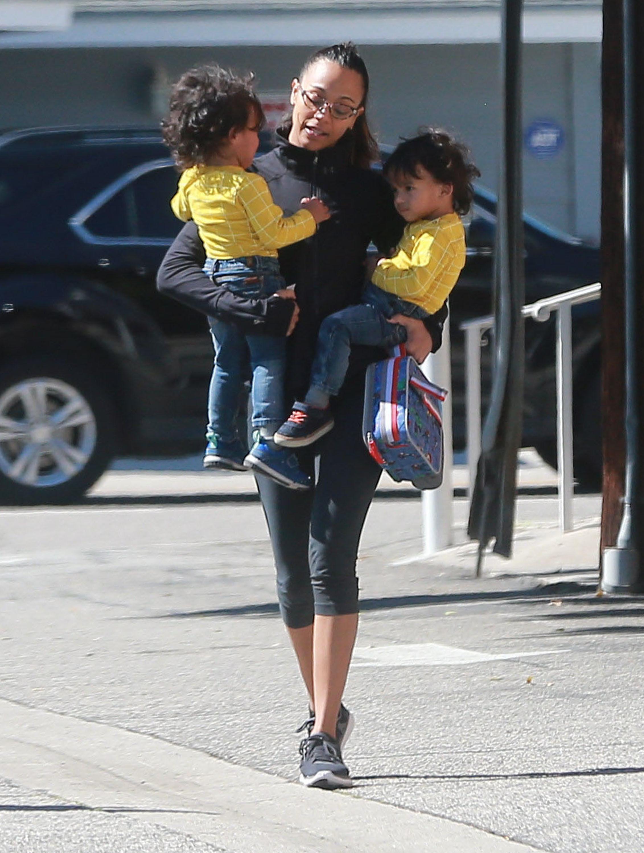 Zoe Saldana twin sons ...