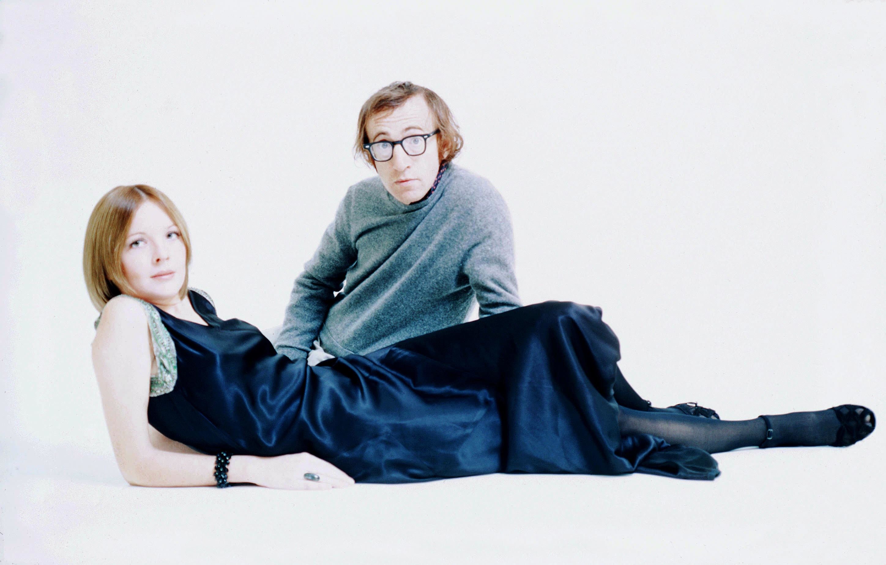 Diane Keaton and Woody Allen pose together in the 1970s.