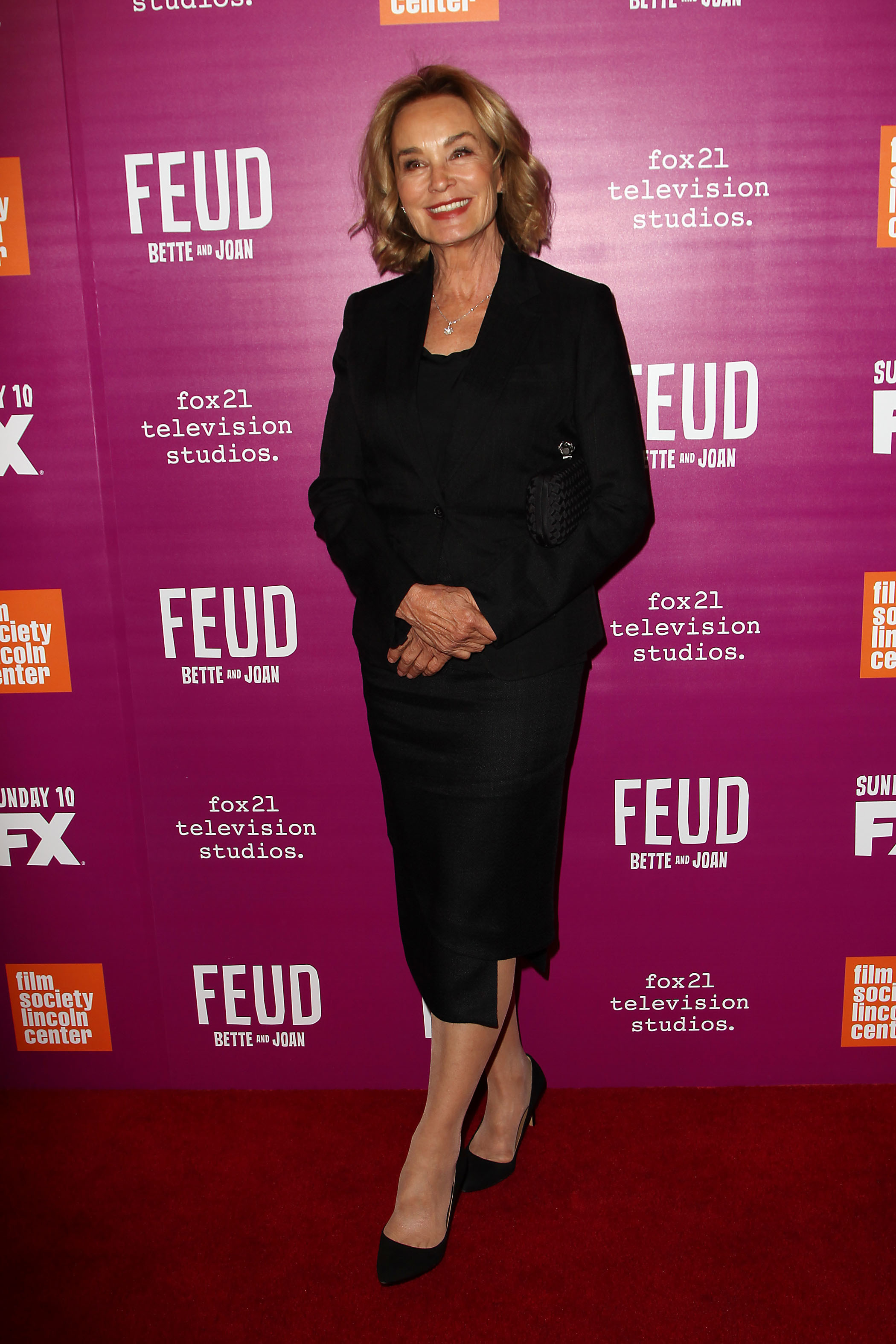 """Jessica Lange attends the """"Feud: Bette and Joan"""" red carpet event in New York on April 18, 2017."""
