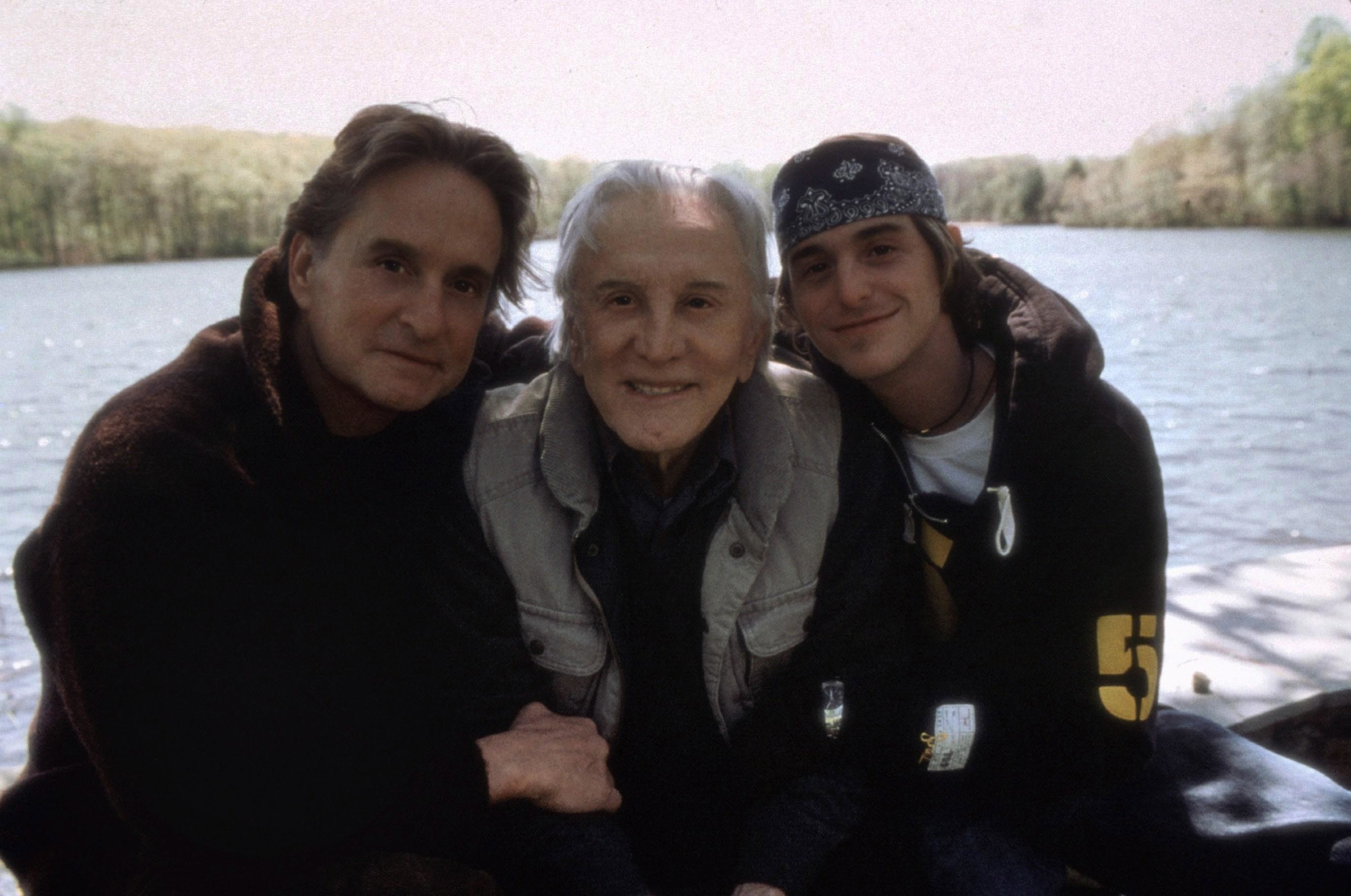 "Michael Douglas, Kirk Douglas and Cameron Douglas starred in 2003's ""It Runs in the Family."""