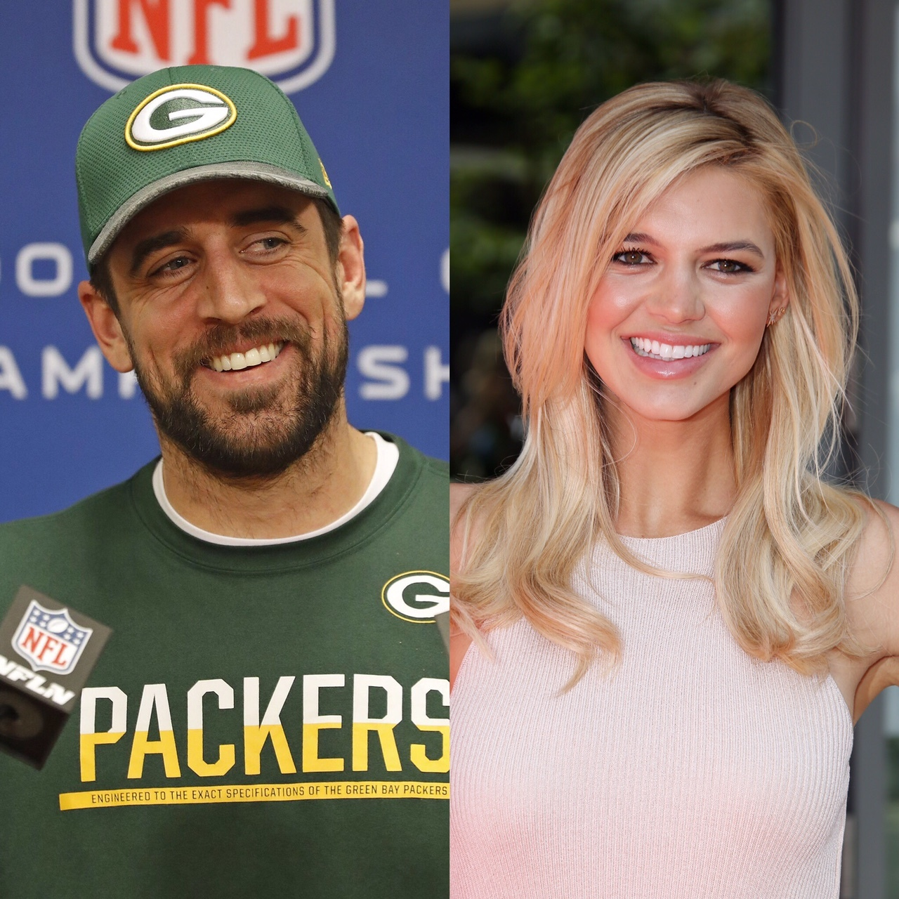 Aaron Rodgers and Kelly Rohrbach... and Steuart Walton