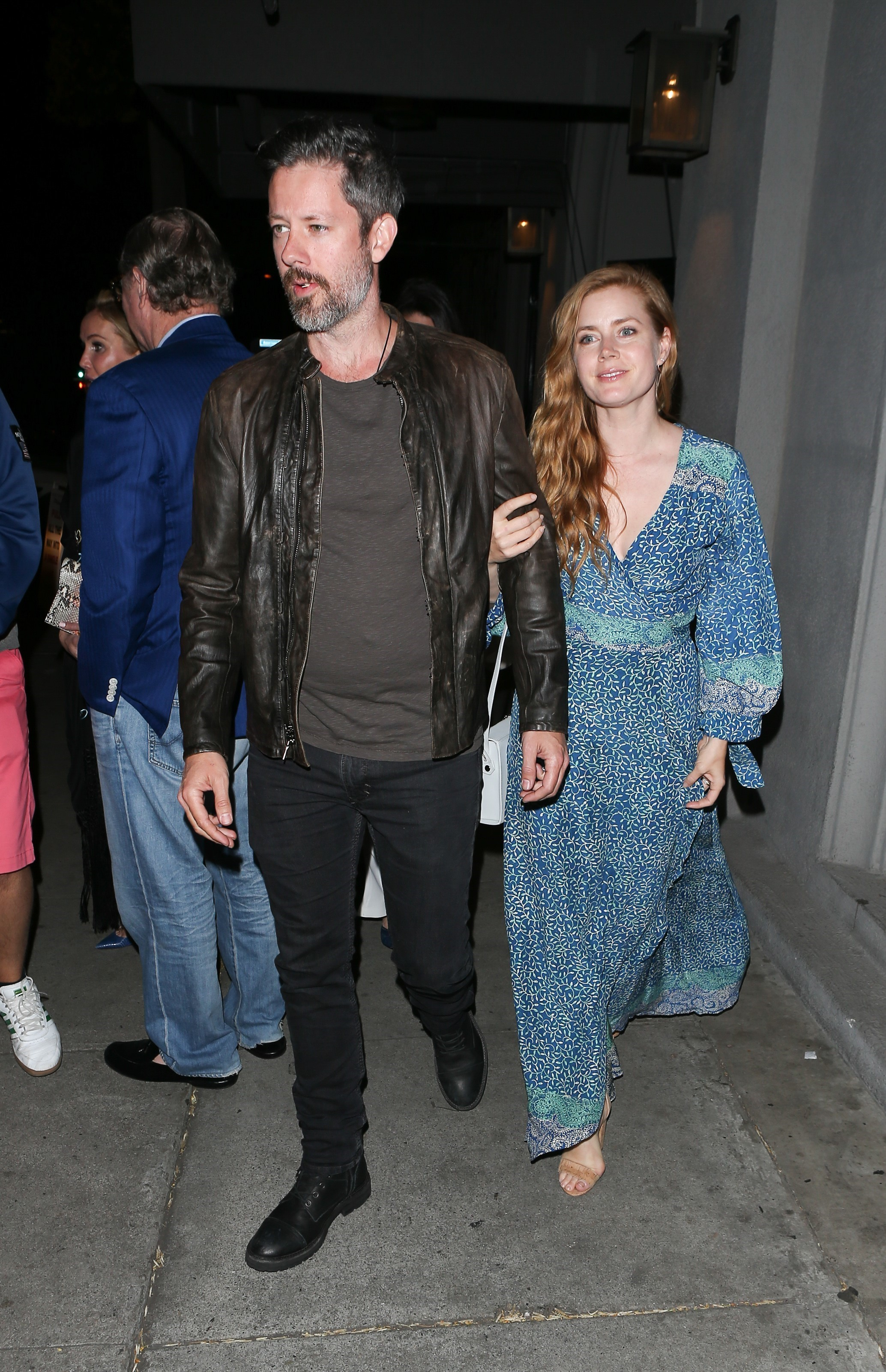 Amy Adams and husband Darren Le Gallo enjoy a date night at Craig's in West Hollywood on May 3, 2017.