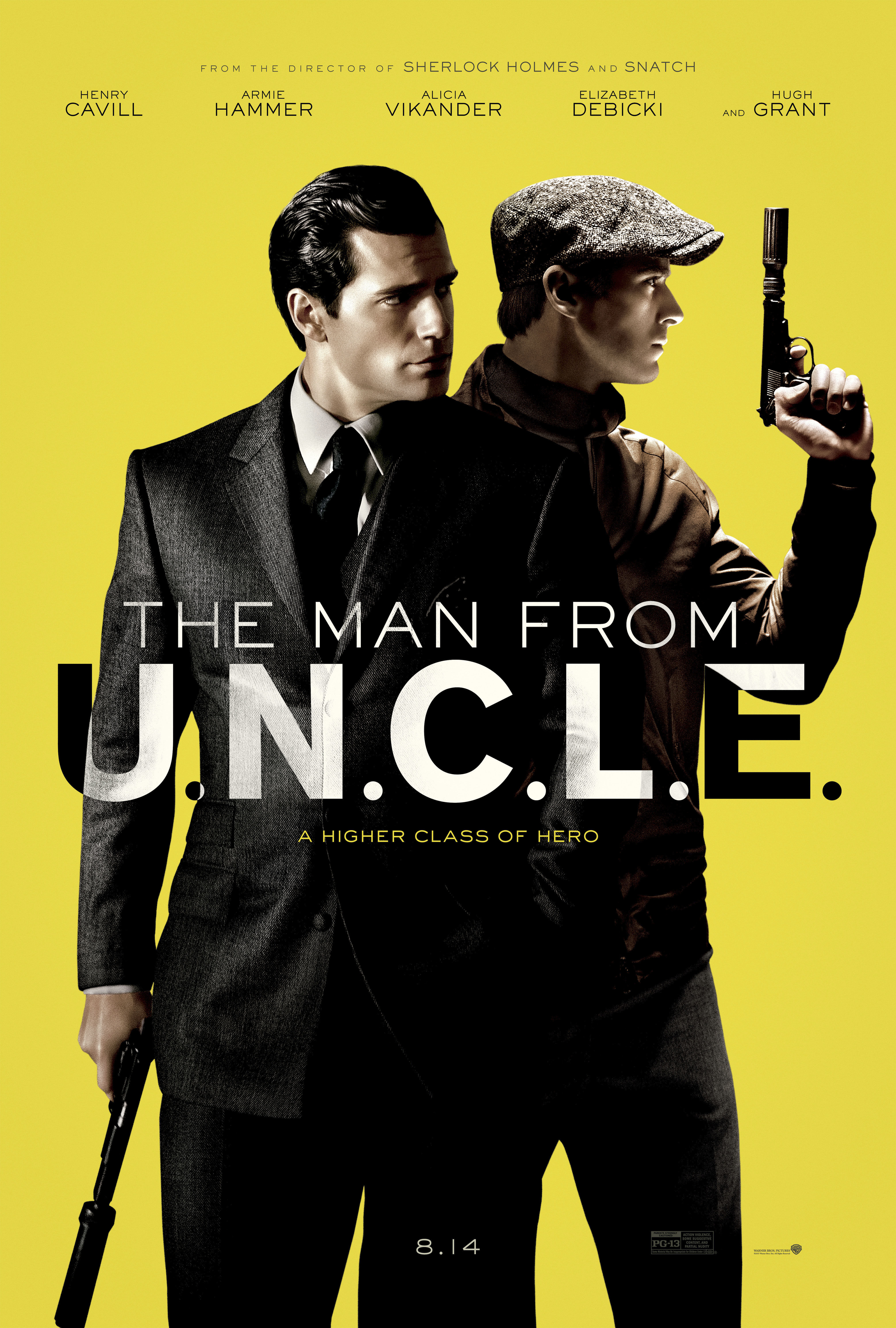 "Henry Cavill and Armie Hammer appear on the movie poster for 2015's ""The Man from U.N.C.L.E."""