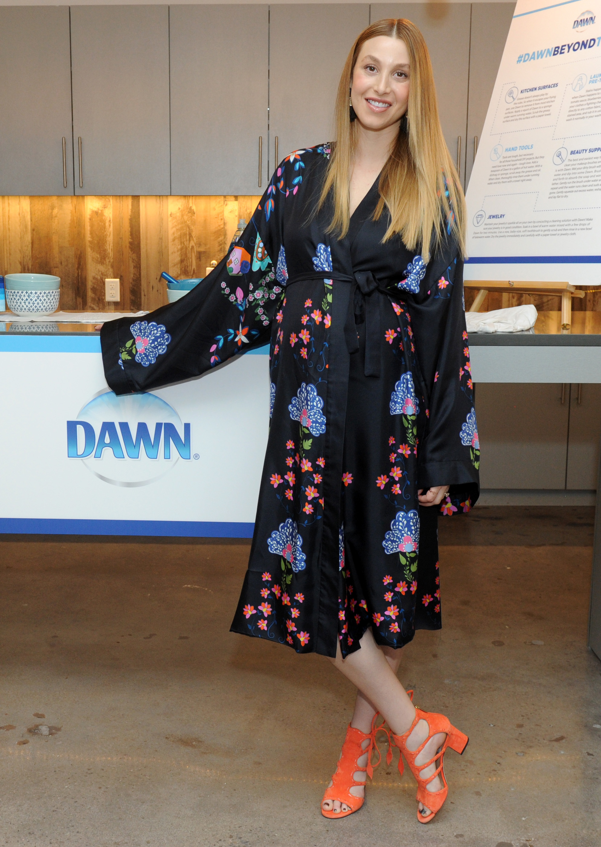Whitney Port shares her top home life hacks and the many ways to use Dawn dish soap in the kitchen and beyond at an event in New York City on May 9, 2017.