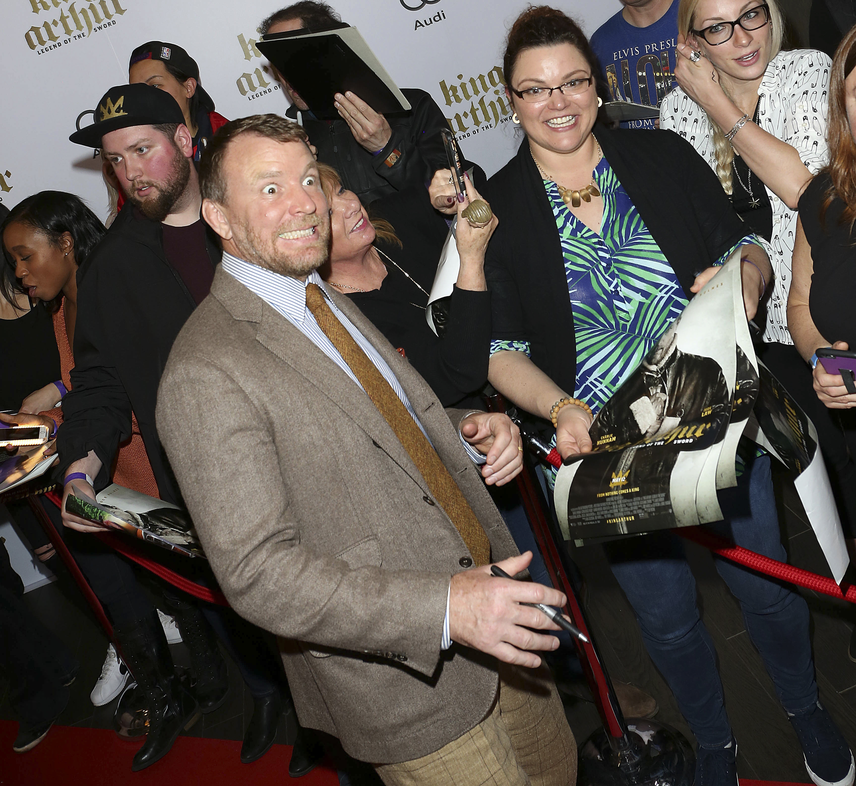 """Guy Ritchie attends the """"King Arthur: Legend of the Sword"""" premiere in Toronto on May 2, 2017."""
