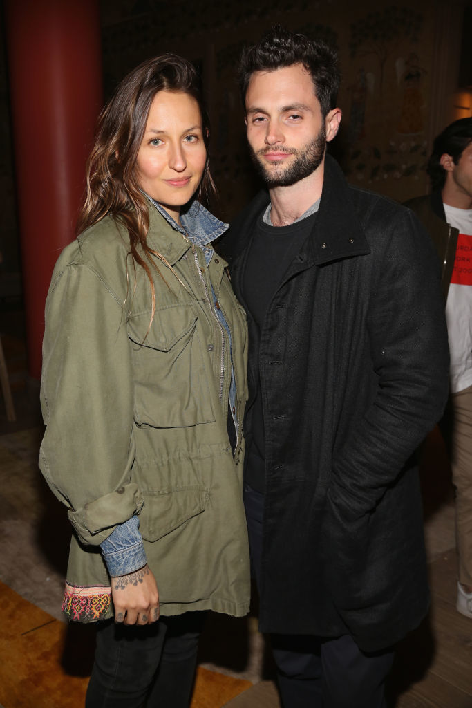 """Domino Kirke and Penn Badgley attend The Weinstein Company and Lyft's special screening of """"3 Generations"""" in New York City on April 30, 2017."""