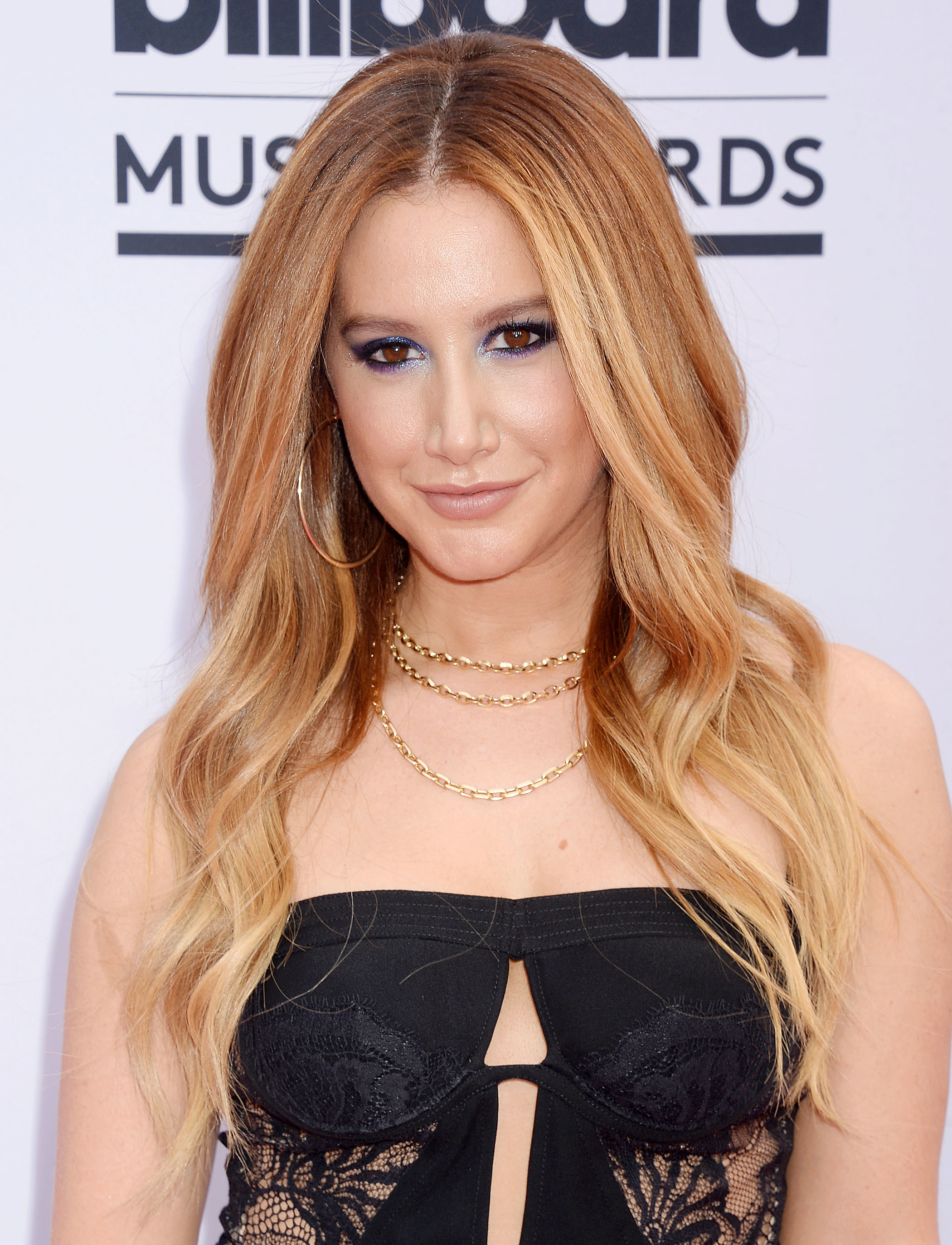 Ashley Tisdale arrives at the Billboard Music Awards at T Mobile Arena in Las Vegas on May 21, 2017.