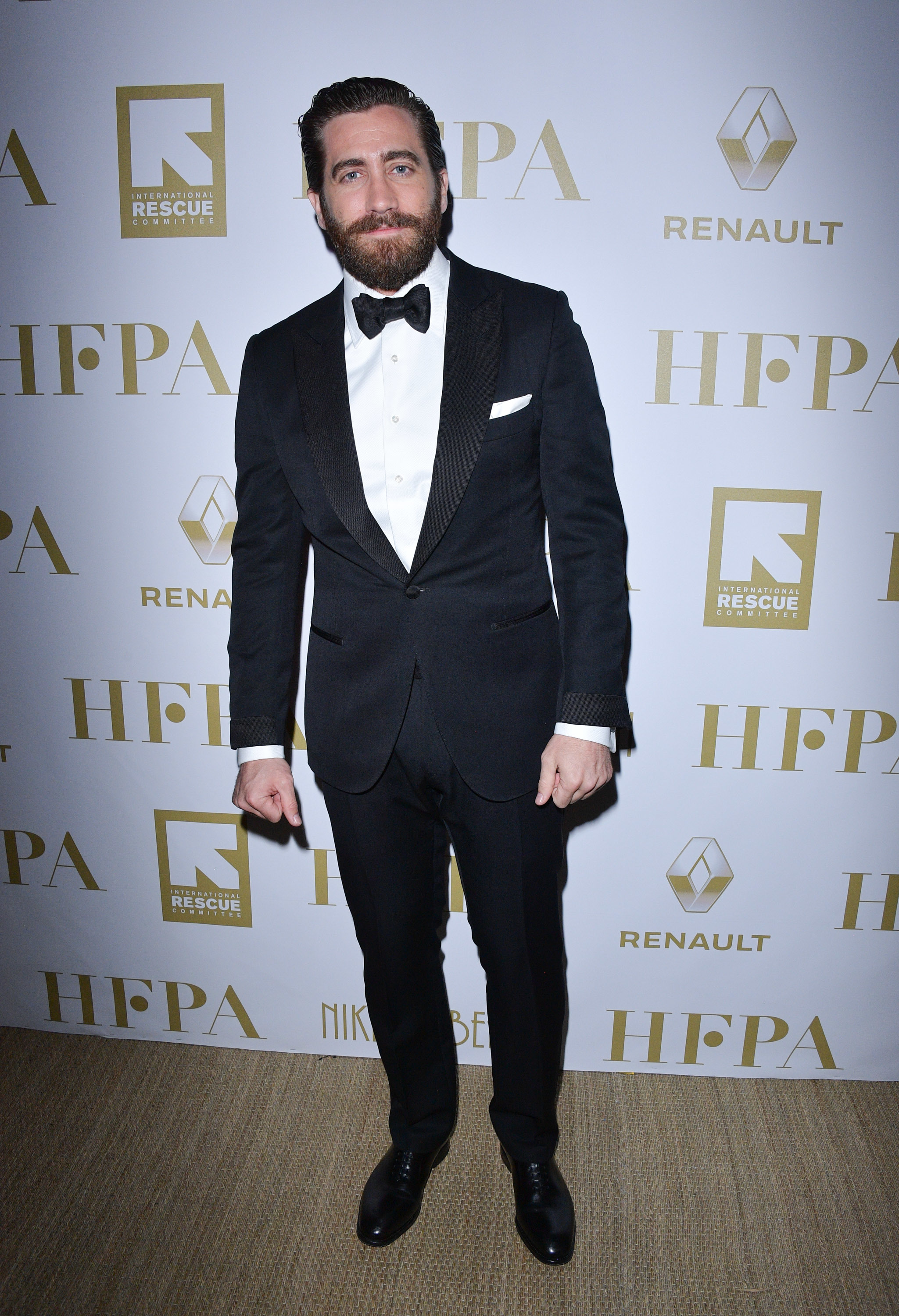 Jake Gyllenhaal attends the Hollywood Foreign Press Association's philanthropic celebration in support of the International Rescue Committee and presented by Renault Nissan Alliance during the 70th Cannes Film Festival at Nikki Beach at the InterContinental Carlton in France on May 21, 2017.