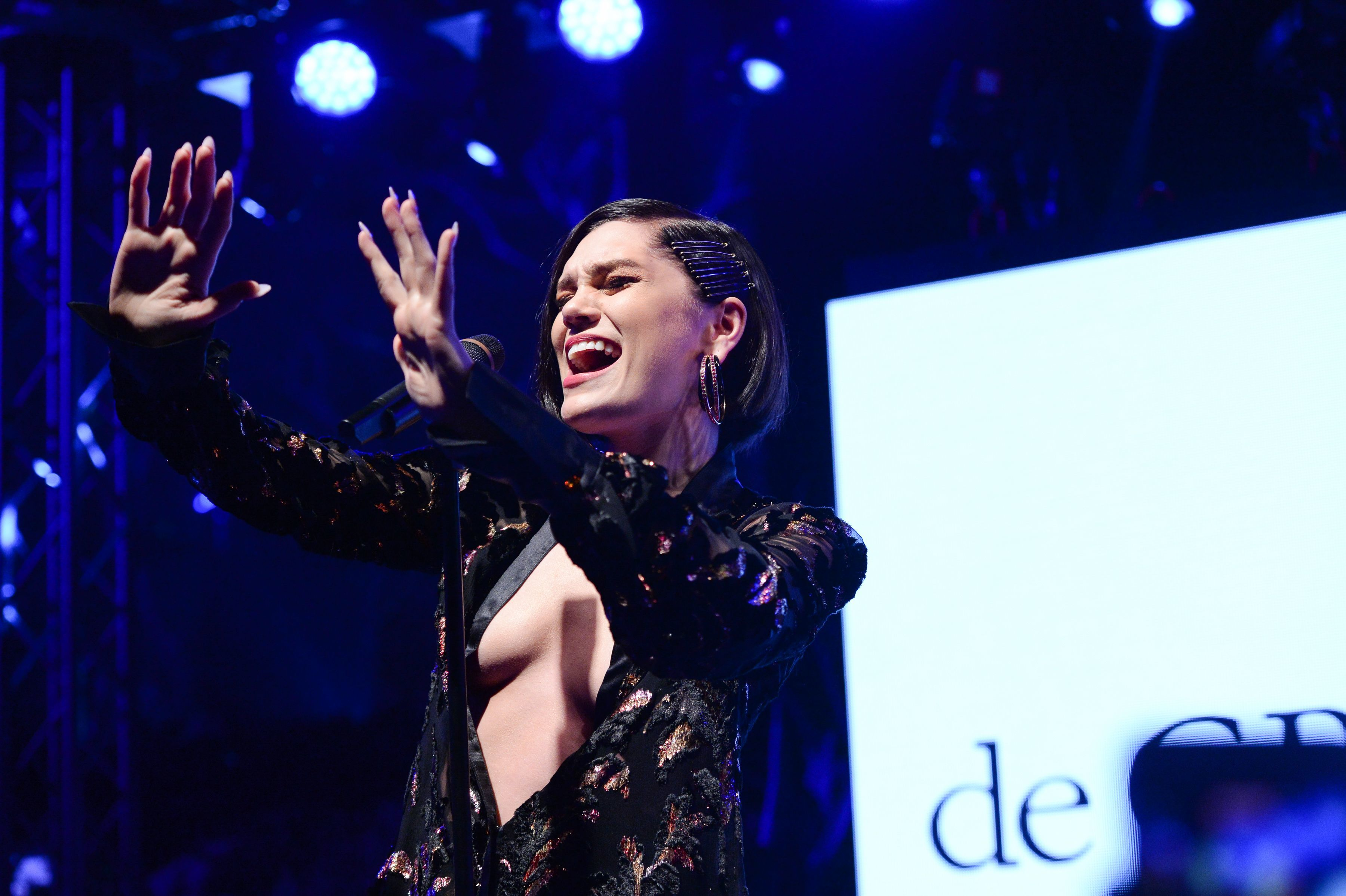 Jessie J performs during the De Grisogono Party during the 70th annual Cannes Film Festival on May 23, 2017.