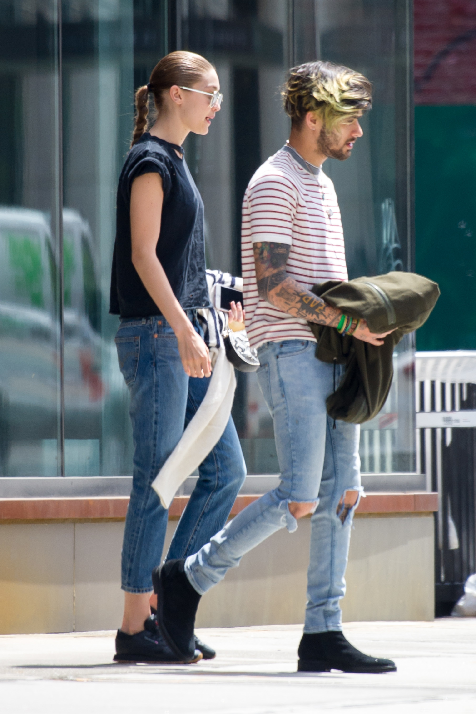 Gigi Hadid and Zayn Malik were seen out and about in New York City on May 28, 2017.