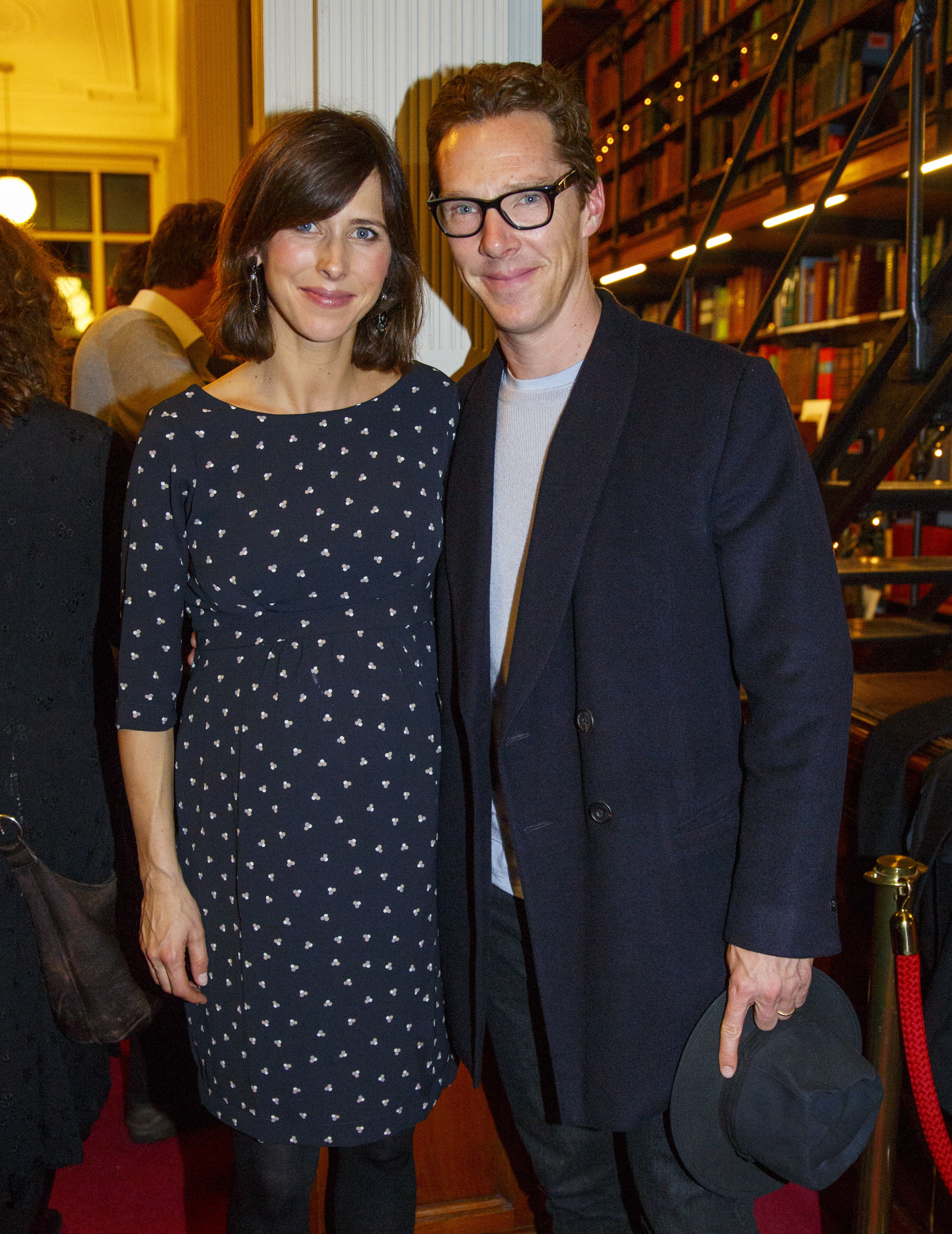 Sophie Hunter and Benedict Cumberbatch at The London Library Christmas Party in London, on Dec. 1, 2016.