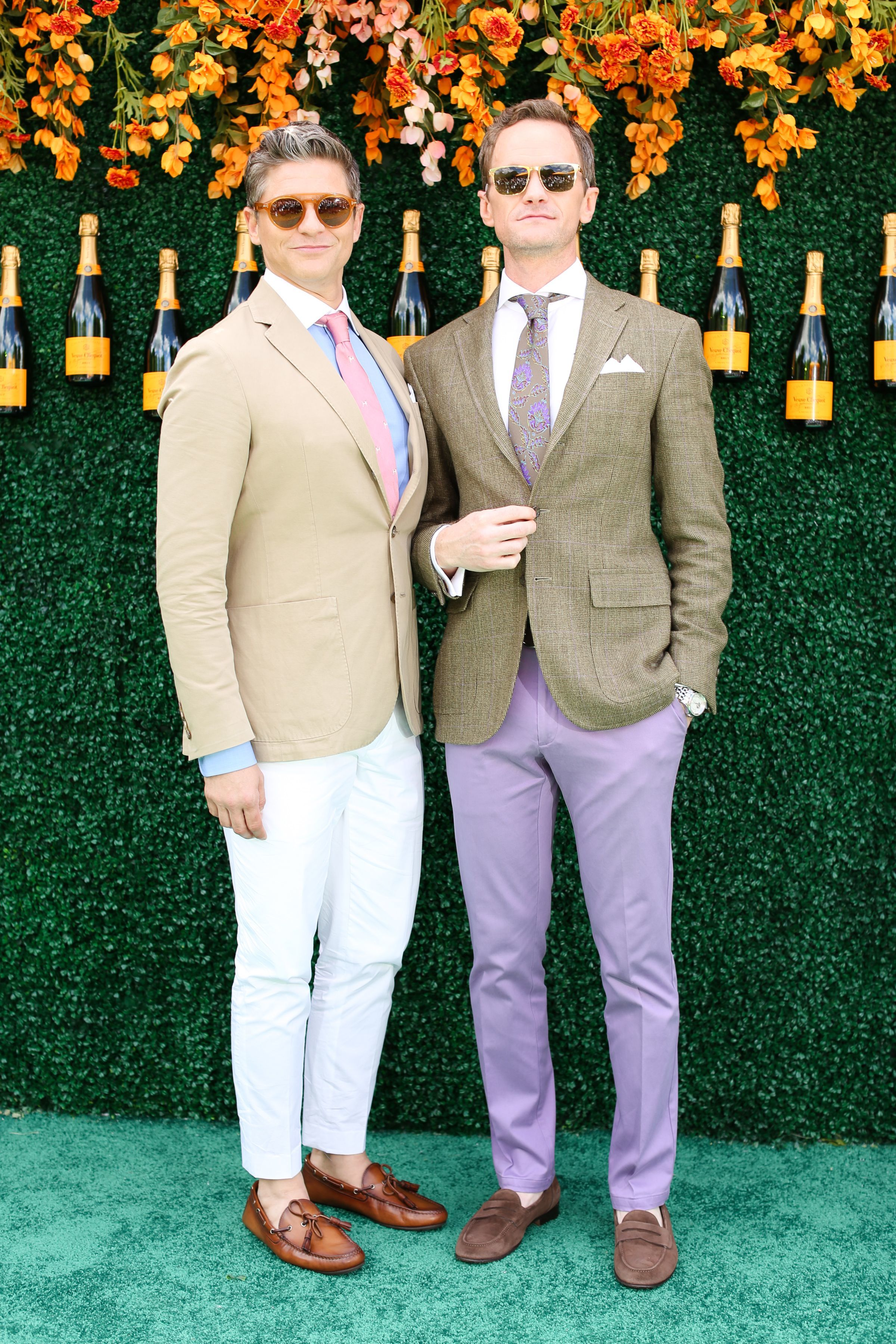 David Burtka and husband Neil Patrick Harris attend the 10th anniversary of the Veuve Clicquot Polo Classic at Liberty State Park in Jersey City, New Jersey, on June 3, 2017.