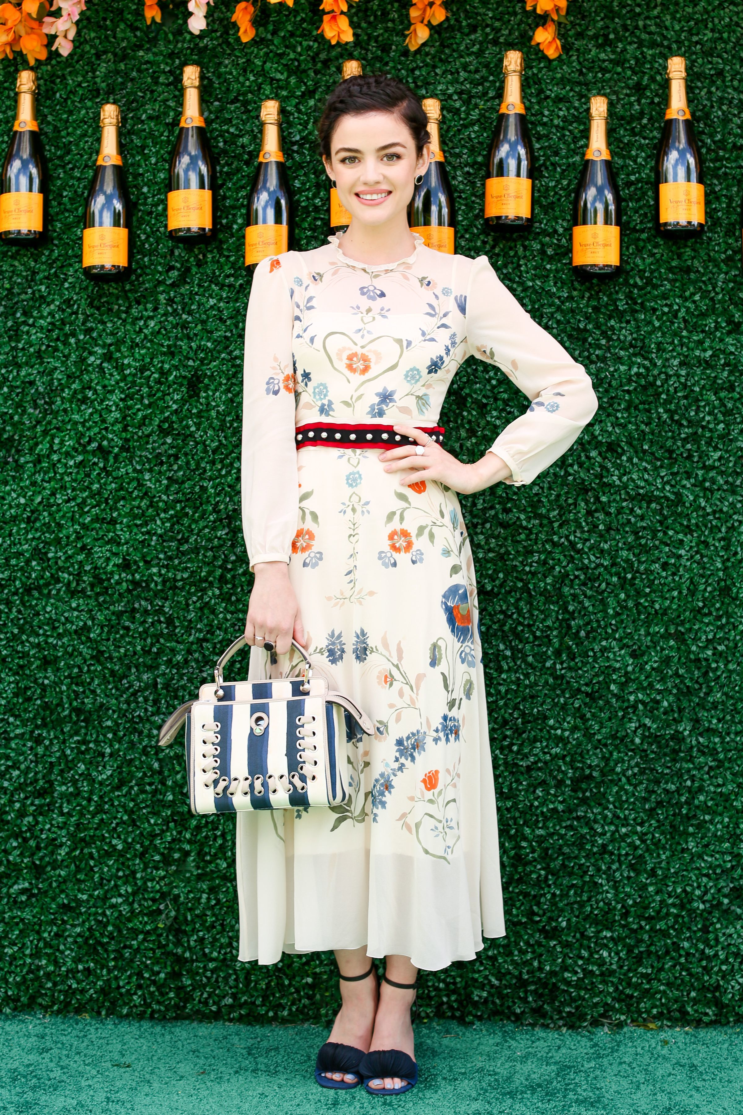 Lucy Hale attends the 10th anniversary of the Veuve Clicquot Polo Classic at Liberty State Park in Jersey City, New Jersey, on June 3, 2017.