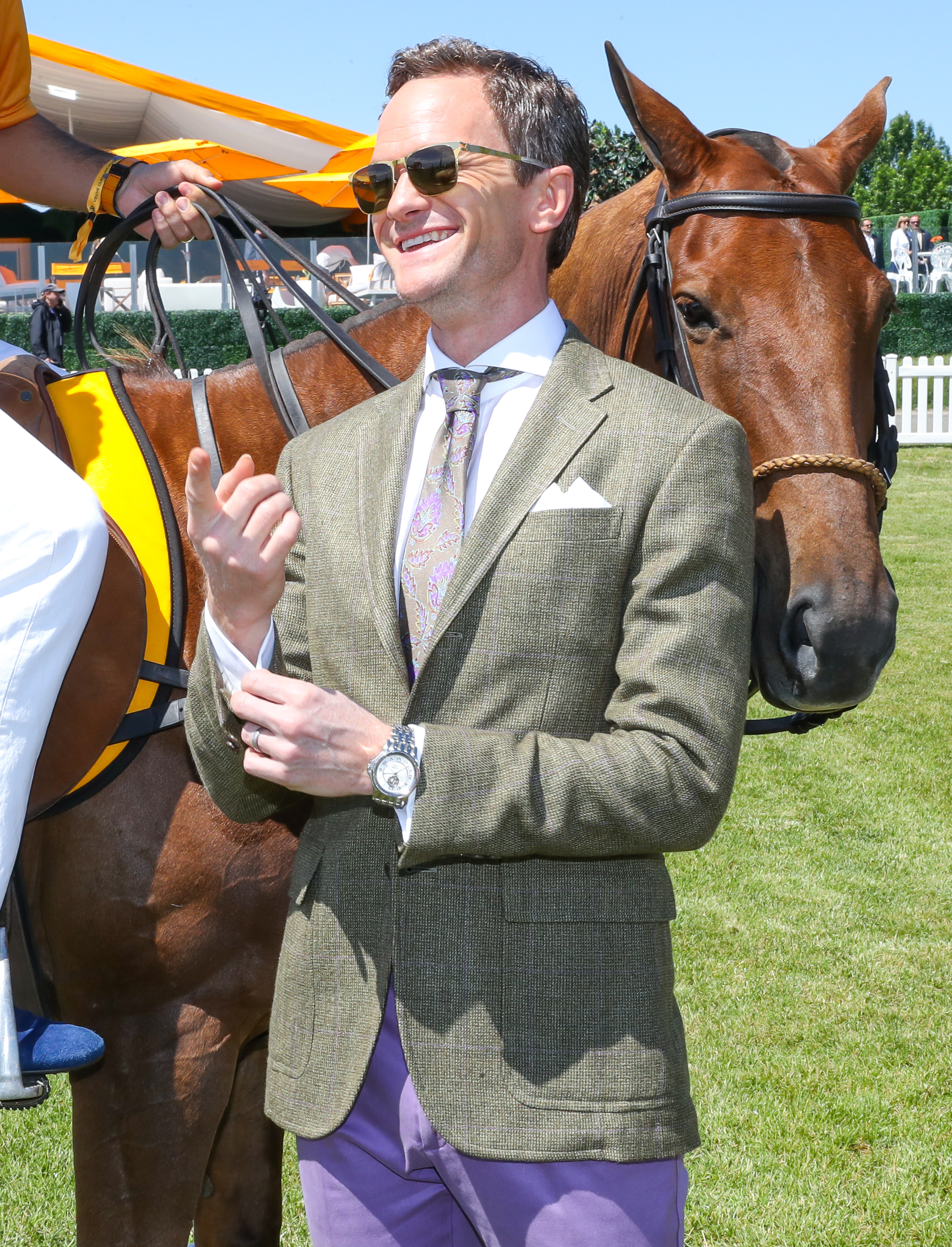 Neil Patrick Harris attends the 10th anniversary of the Veuve Clicquot Polo Classic at Liberty State Park in Jersey City, New Jersey, on June 3, 2017.
