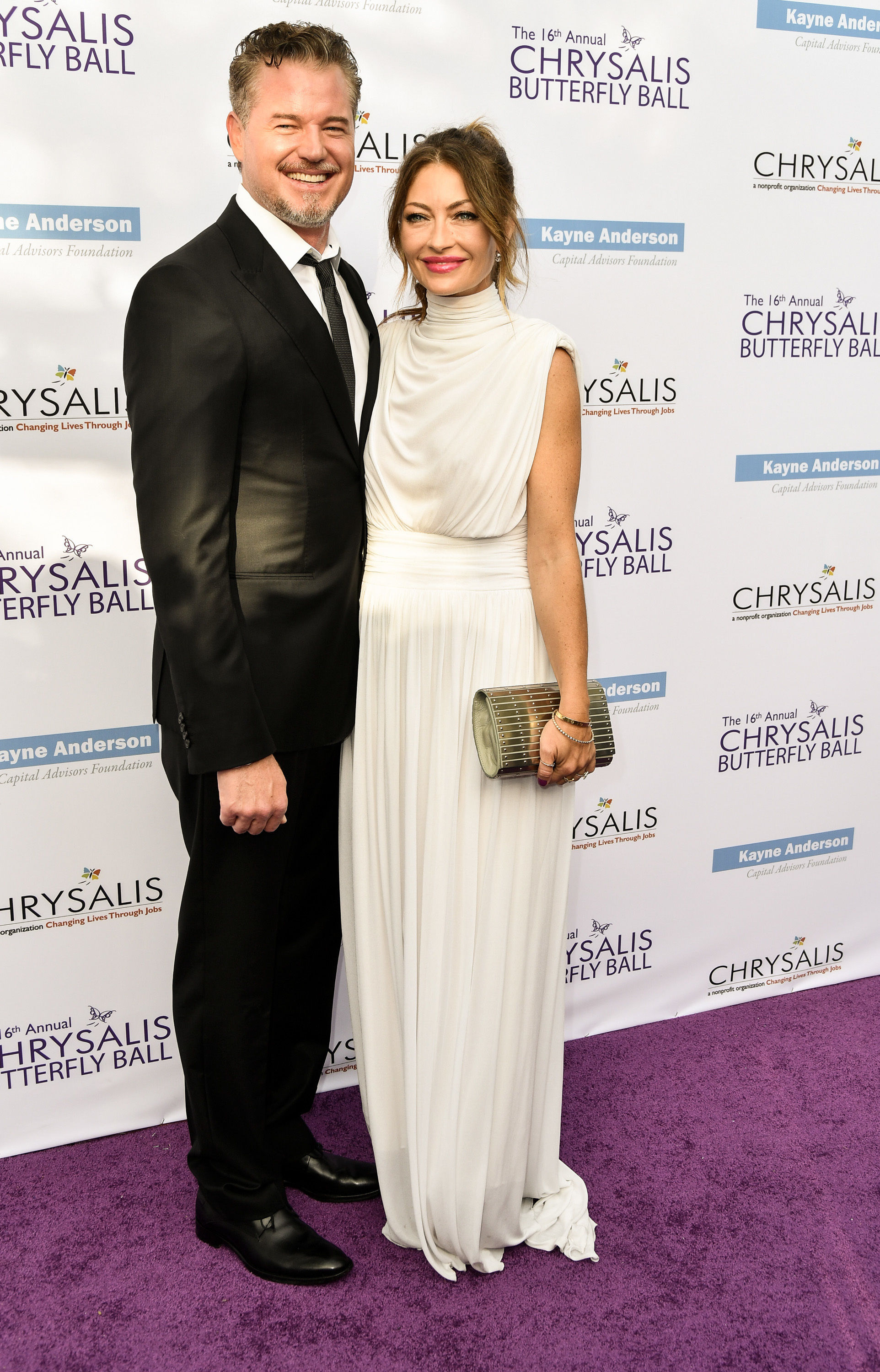 Eric Dane and Rebecca Gayheart attend the 16th Annual Chrysalis Butterfly Ball in Los Angeles on June 3, 2017.