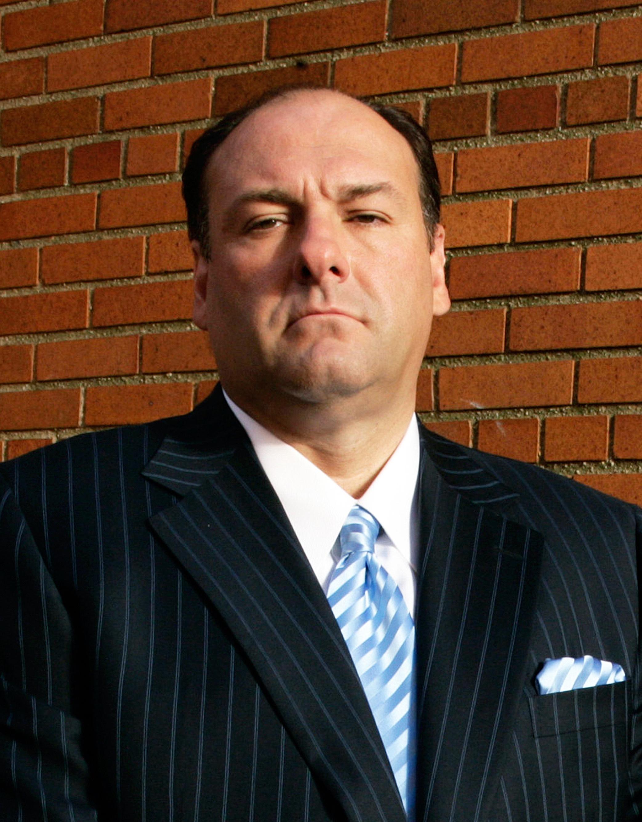 """James Gandolfini as Tony Soprano in """"The Sopranos"""" (2007)."""