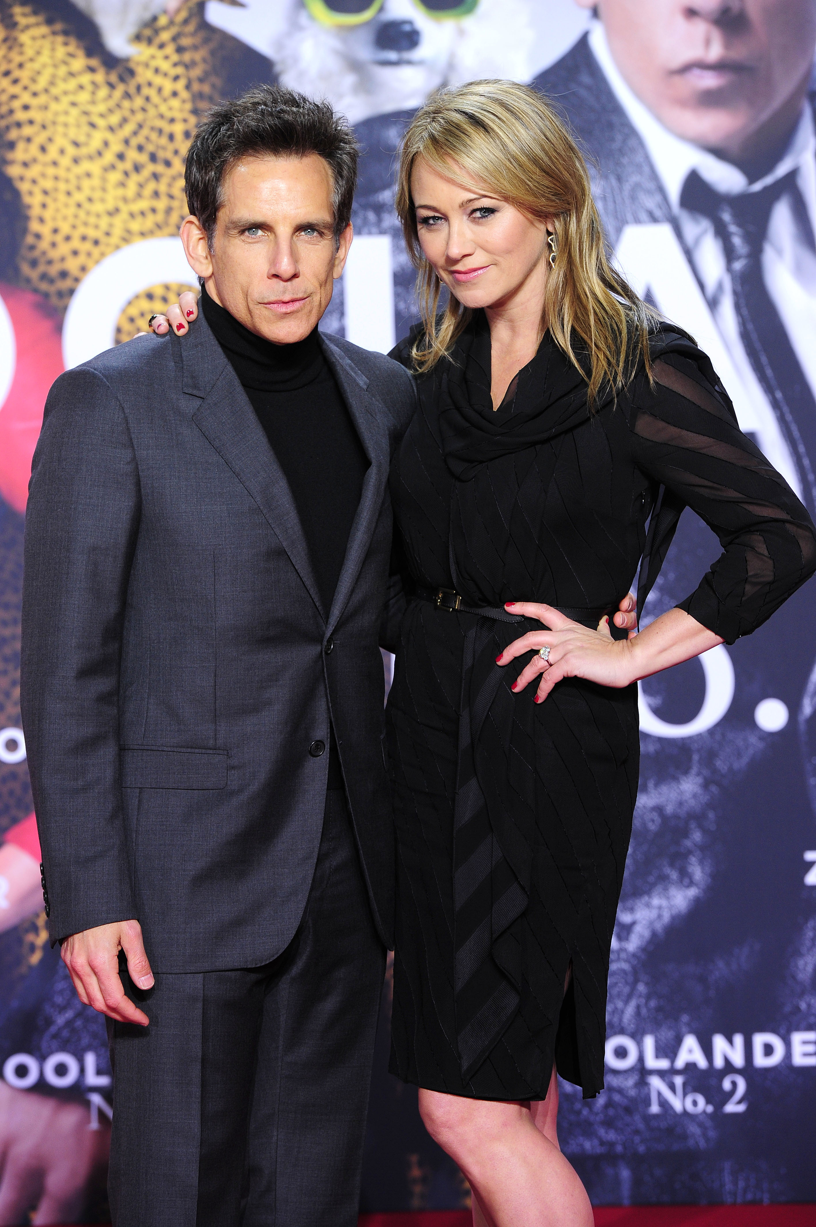 "Ben Stiller and Christine Taylor attends the premiere of ""Zoolander 2"" at Cinestar at Sonycenter in Berlin on Feb. 2, 2016."