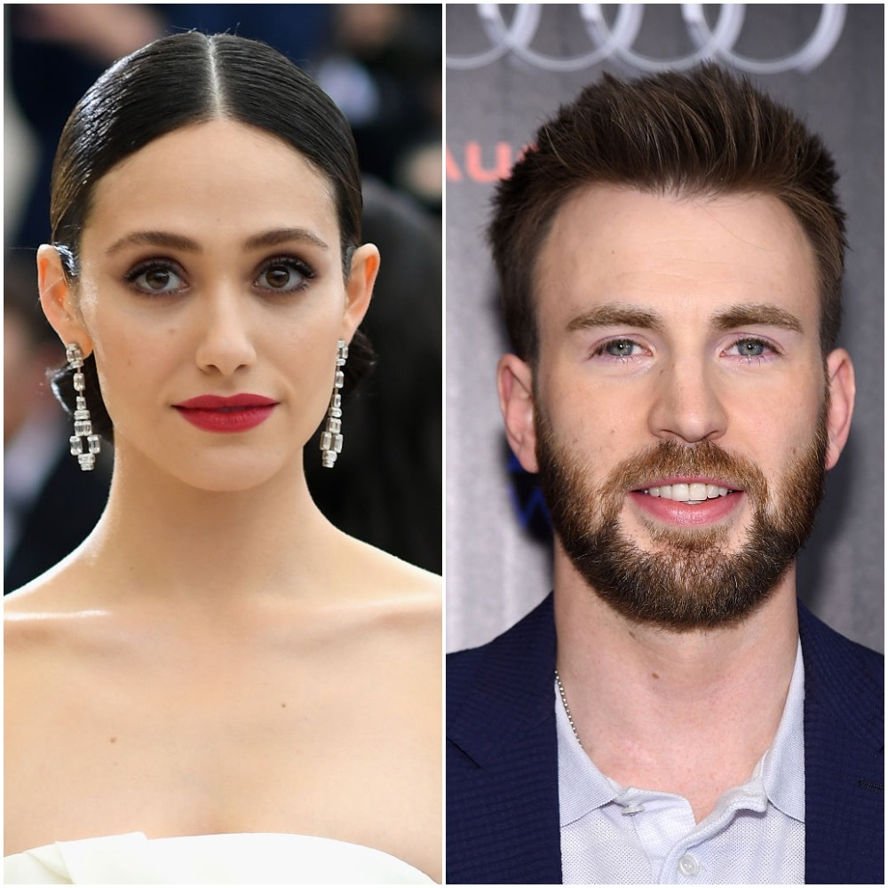"""Emmy Rossum attends the Met Gala in New York City on  May 1, 2017. Chris Evans attends a screening Of Marvel's """"Captain America: Civil War"""" in New York City on May 4, 2016."""