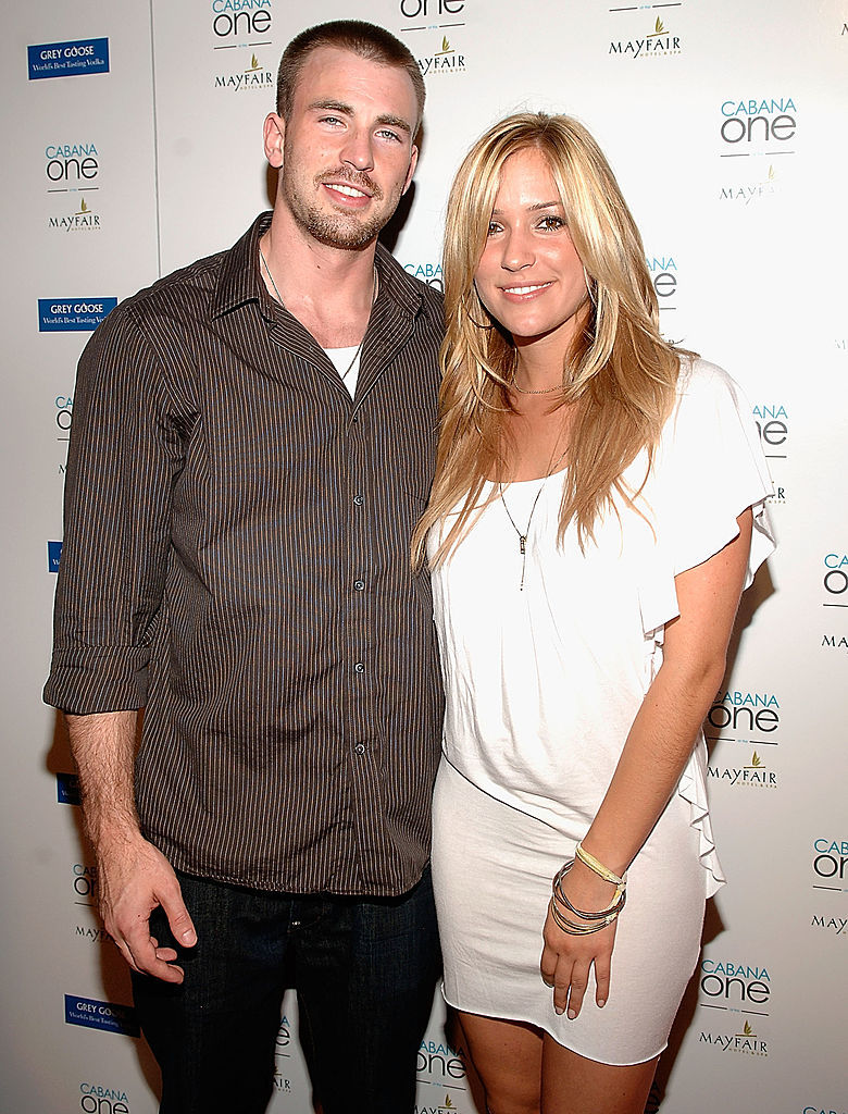 Chris Evans and Kristin Cavallari attend the Grand Opening of Cabana One Pool Club And Lounge At The Mayfair Hotel and Spa in Miami on Oct. 3, 2008.