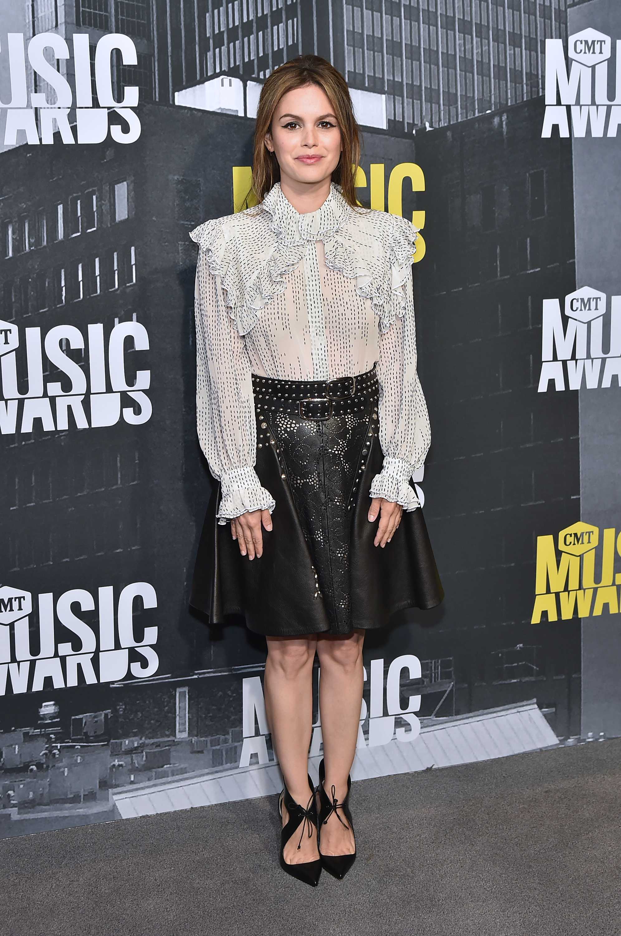 Rachel Bilson attends the 2017 CMT Music Awards at the Music City Center  in Nashville, Tennessee, on June 7, 2017.